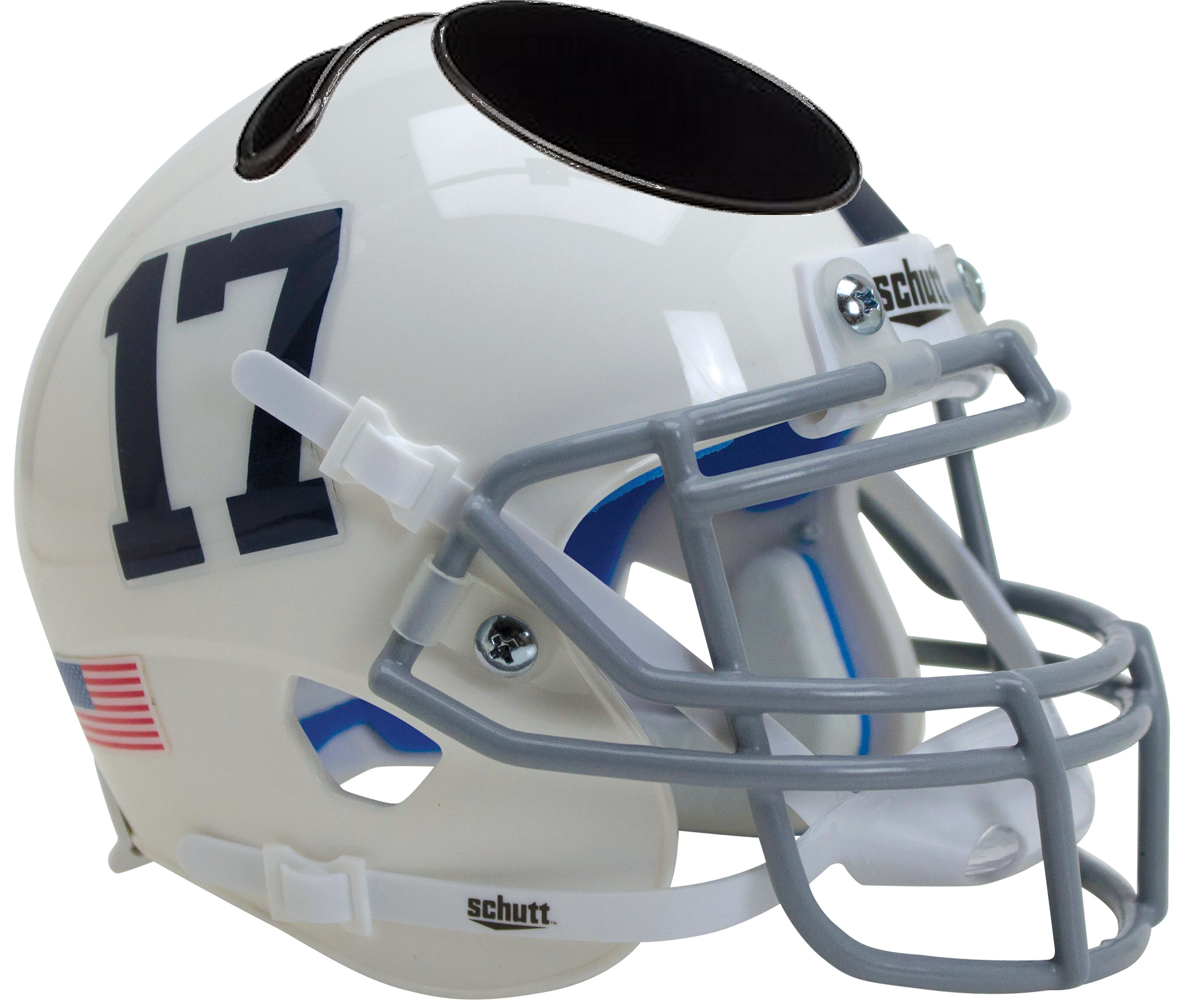 Penn State Nittany Lions Miniature Football Helmet Desk Caddy <B>White Number 17</B>