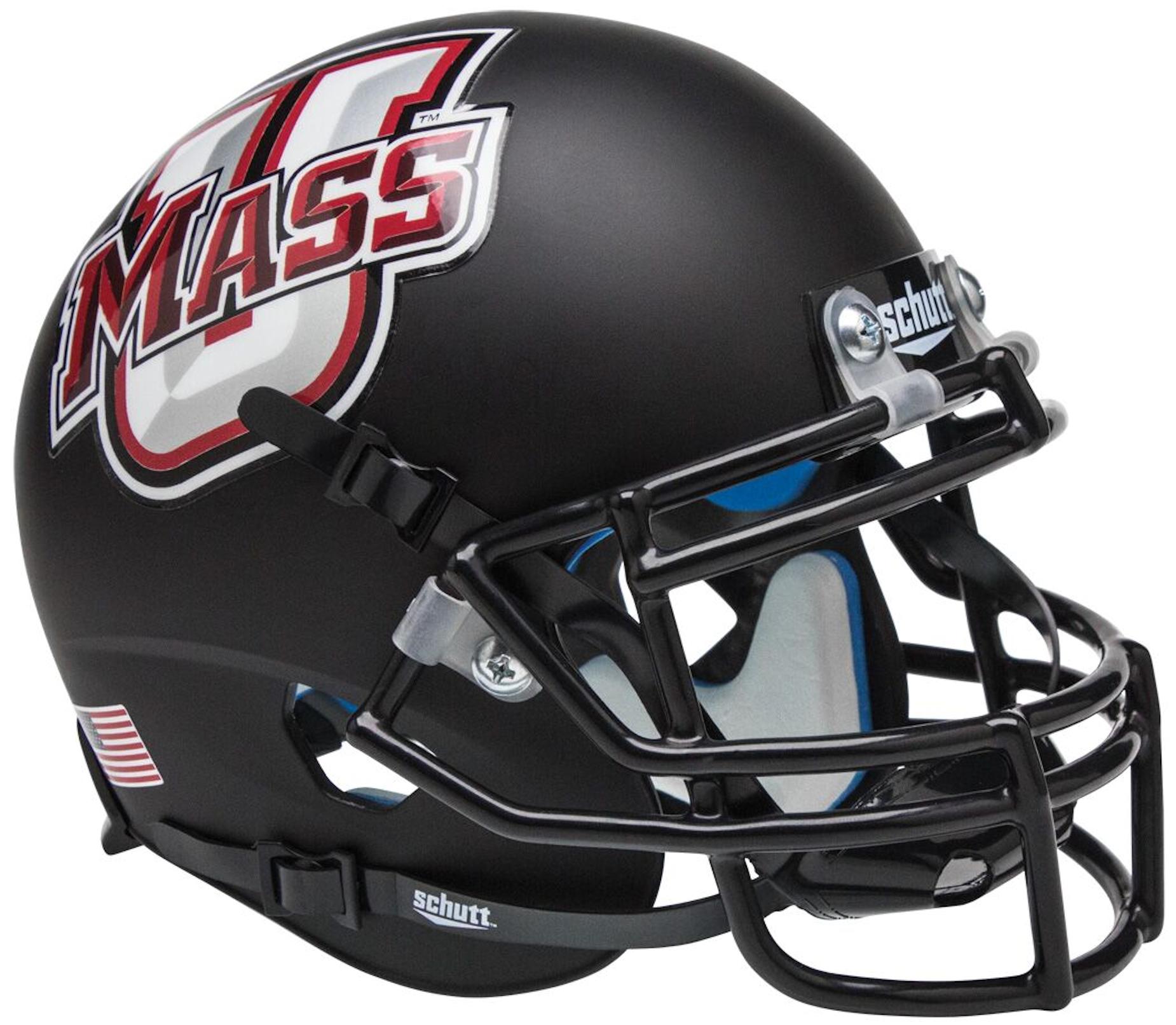 U Mass Minutemen Mini XP Authentic Helmet Schutt <B>Black</B>