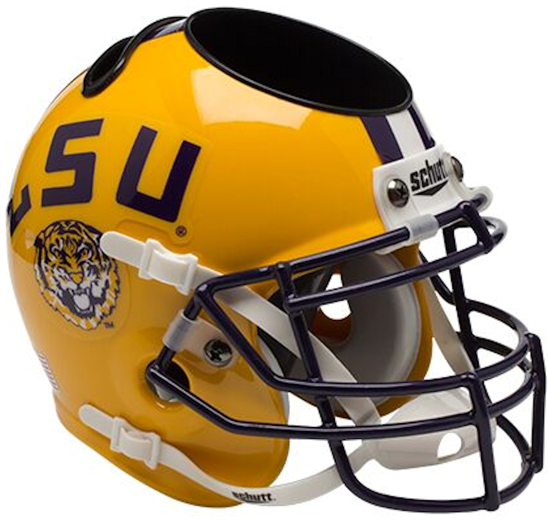 LSU Tigers Miniature Football Helmet Desk Caddy