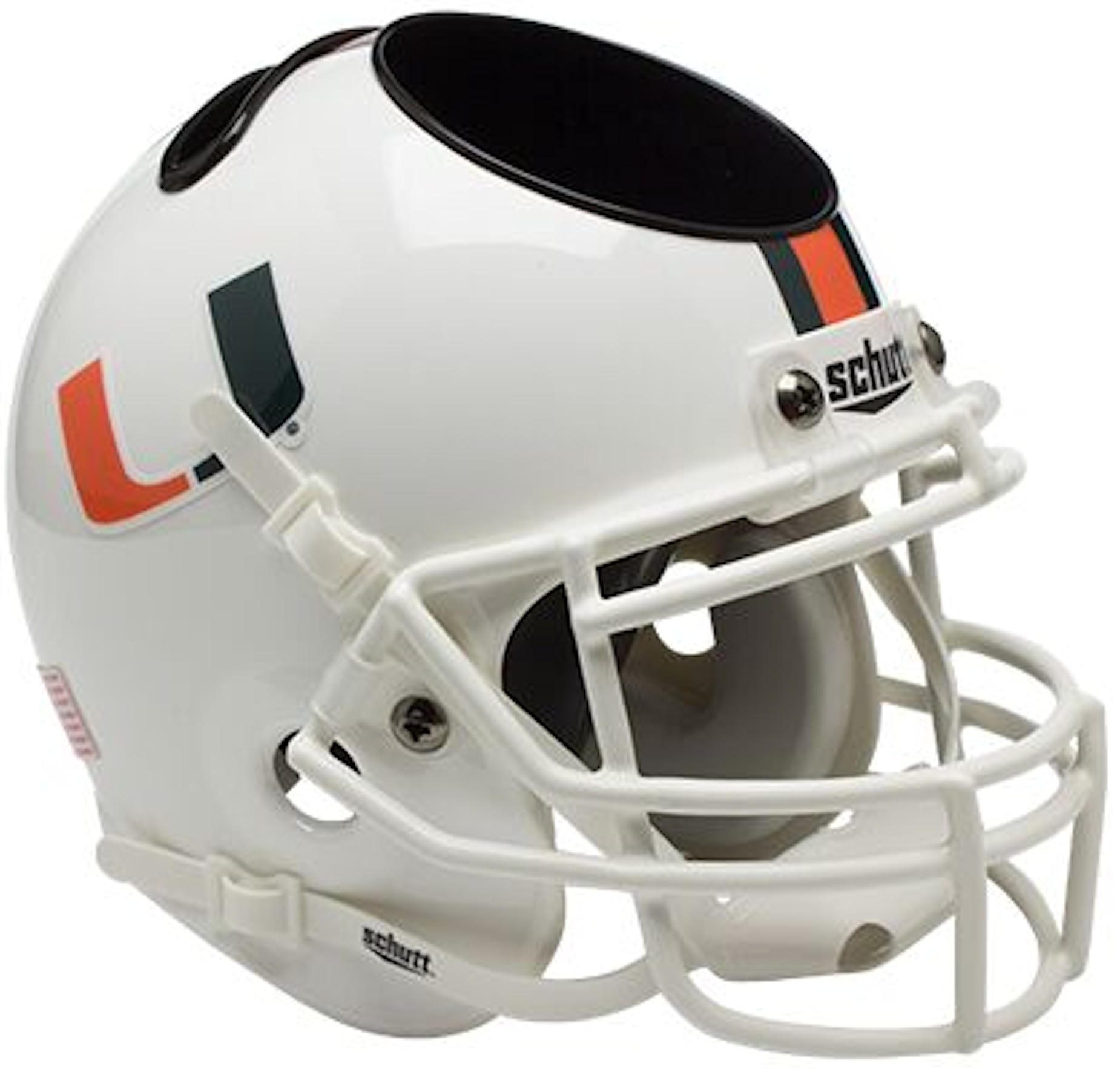 Miami Hurricanes Miniature Football Helmet Desk Caddy