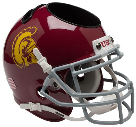 USC Trojans Miniature Football Helmet Desk Caddy
