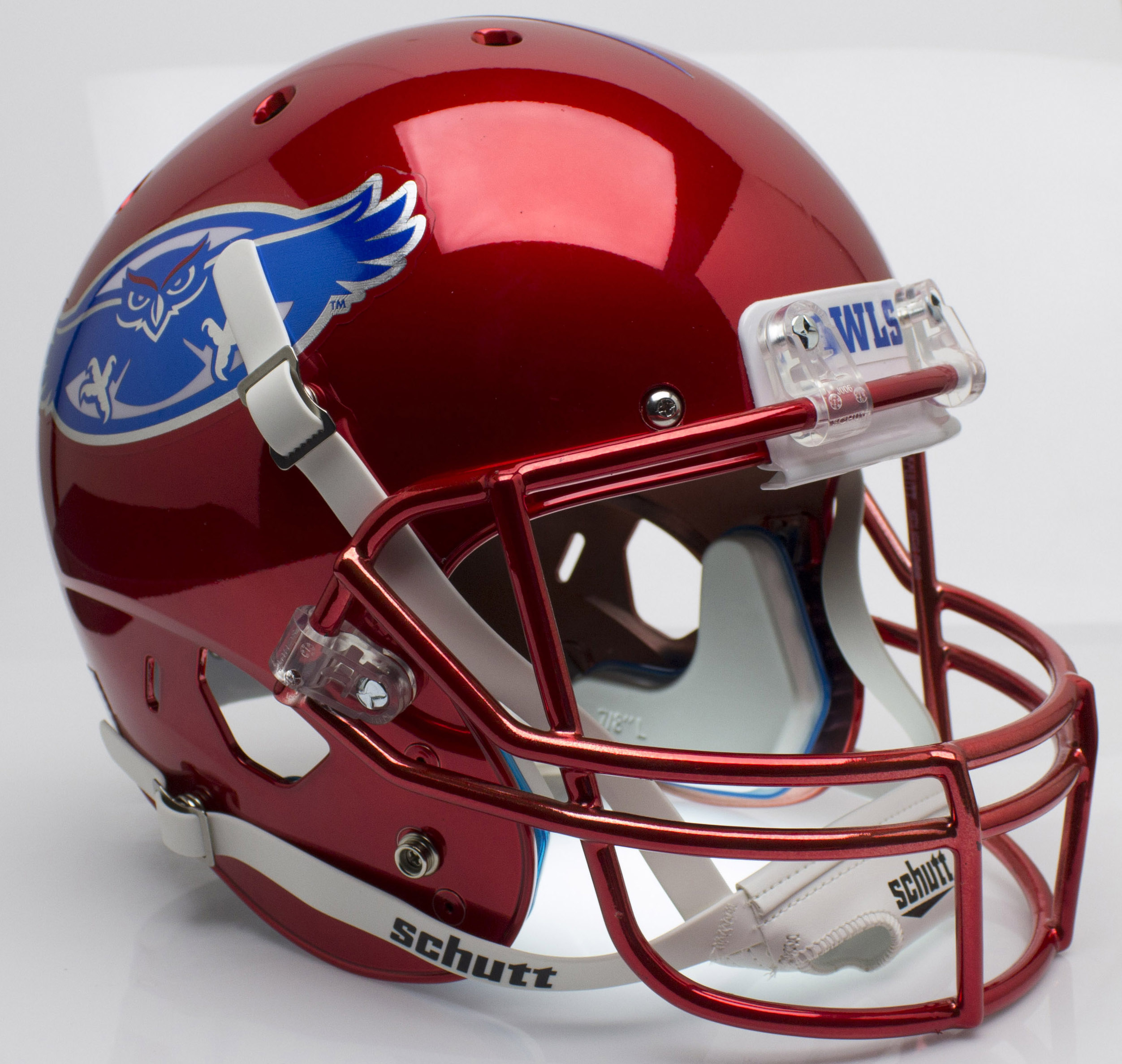 Florida Atlantic Owls Full XP Replica Football Helmet Schutt <B>Chrome</B>