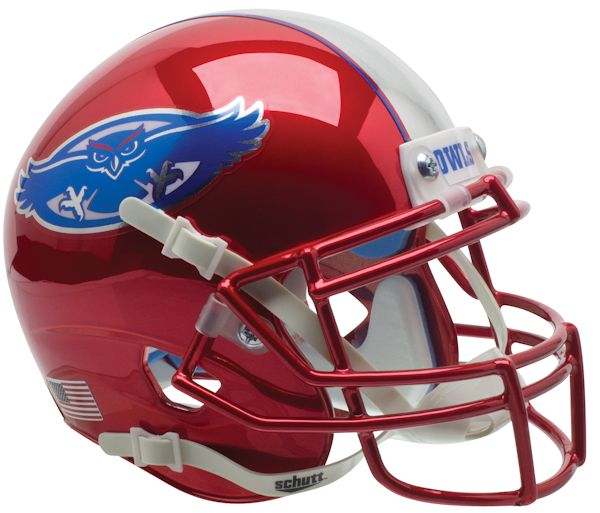 Florida Atlantic Owls Mini XP Authentic Helmet Schutt <B>Chrome</B>