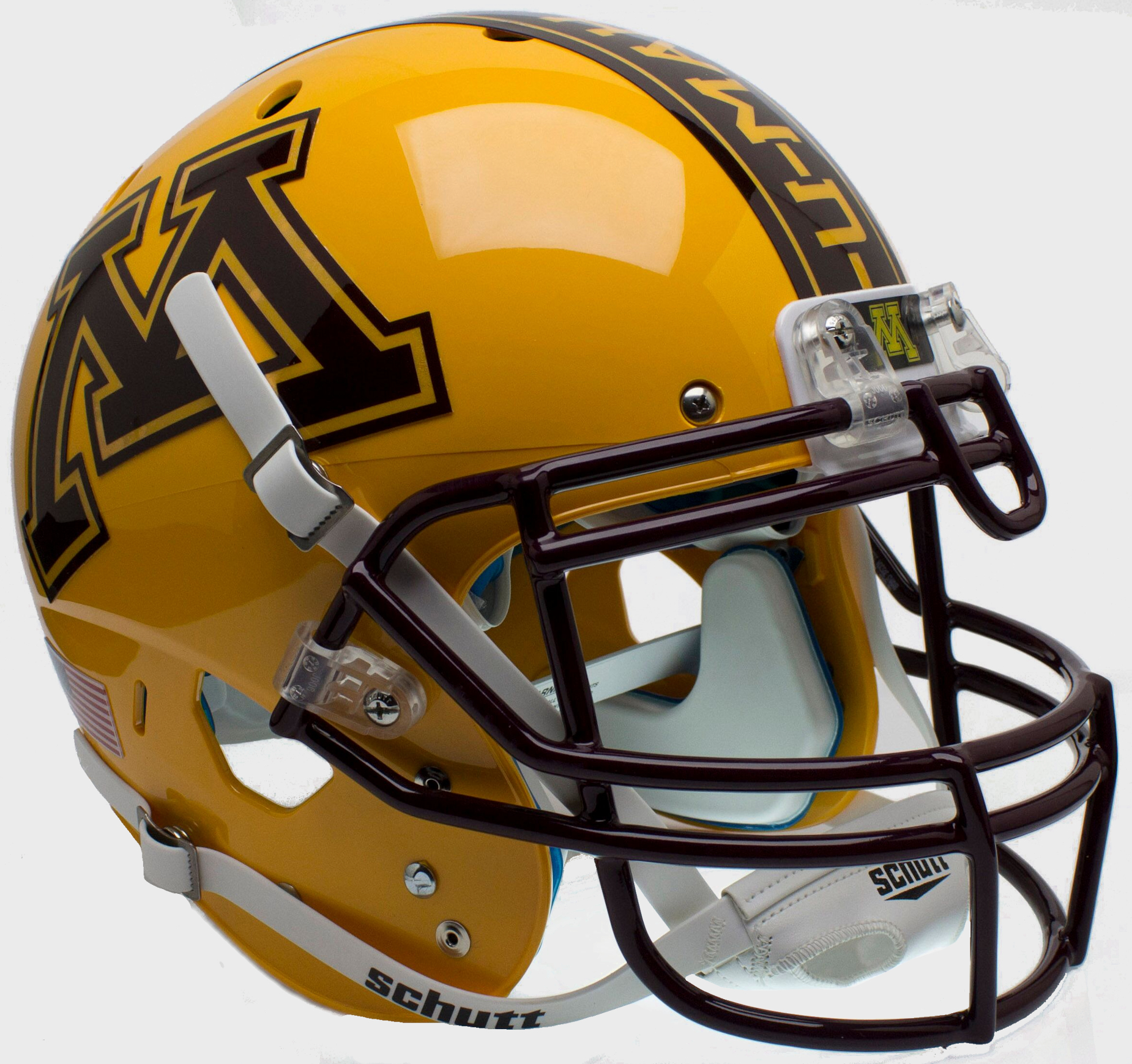 Minnesota Golden Gophers Authentic College XP Football Helmet Schutt  <B>Gold</B>