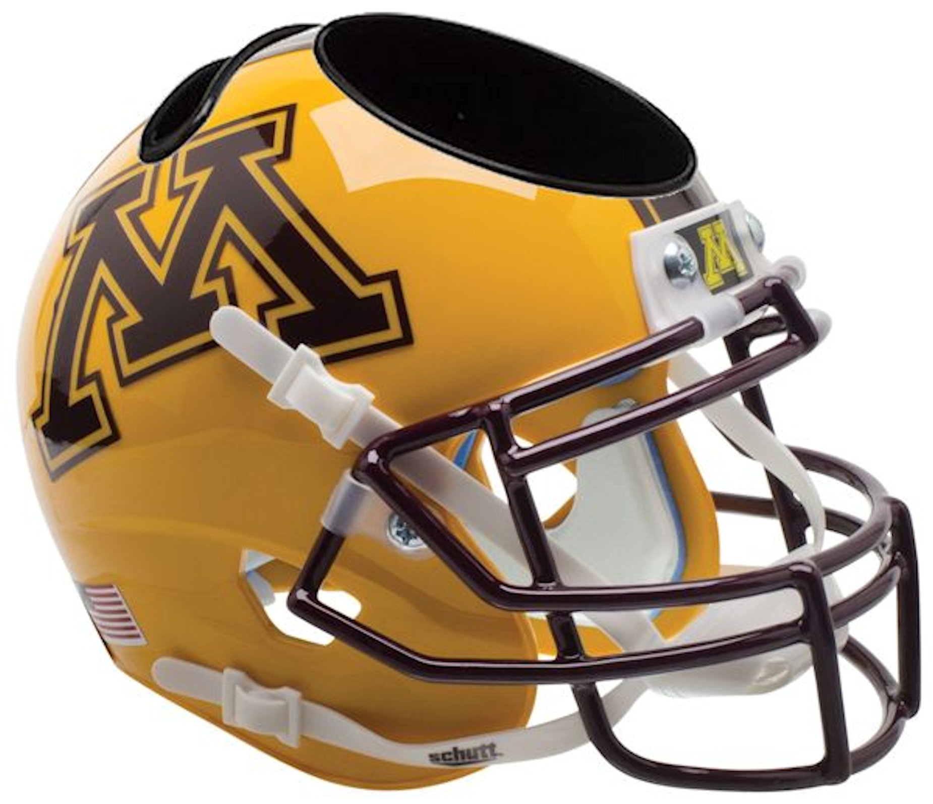 Minnesota Golden Gophers Miniature Football Helmet Desk Caddy <B>Gold</B>