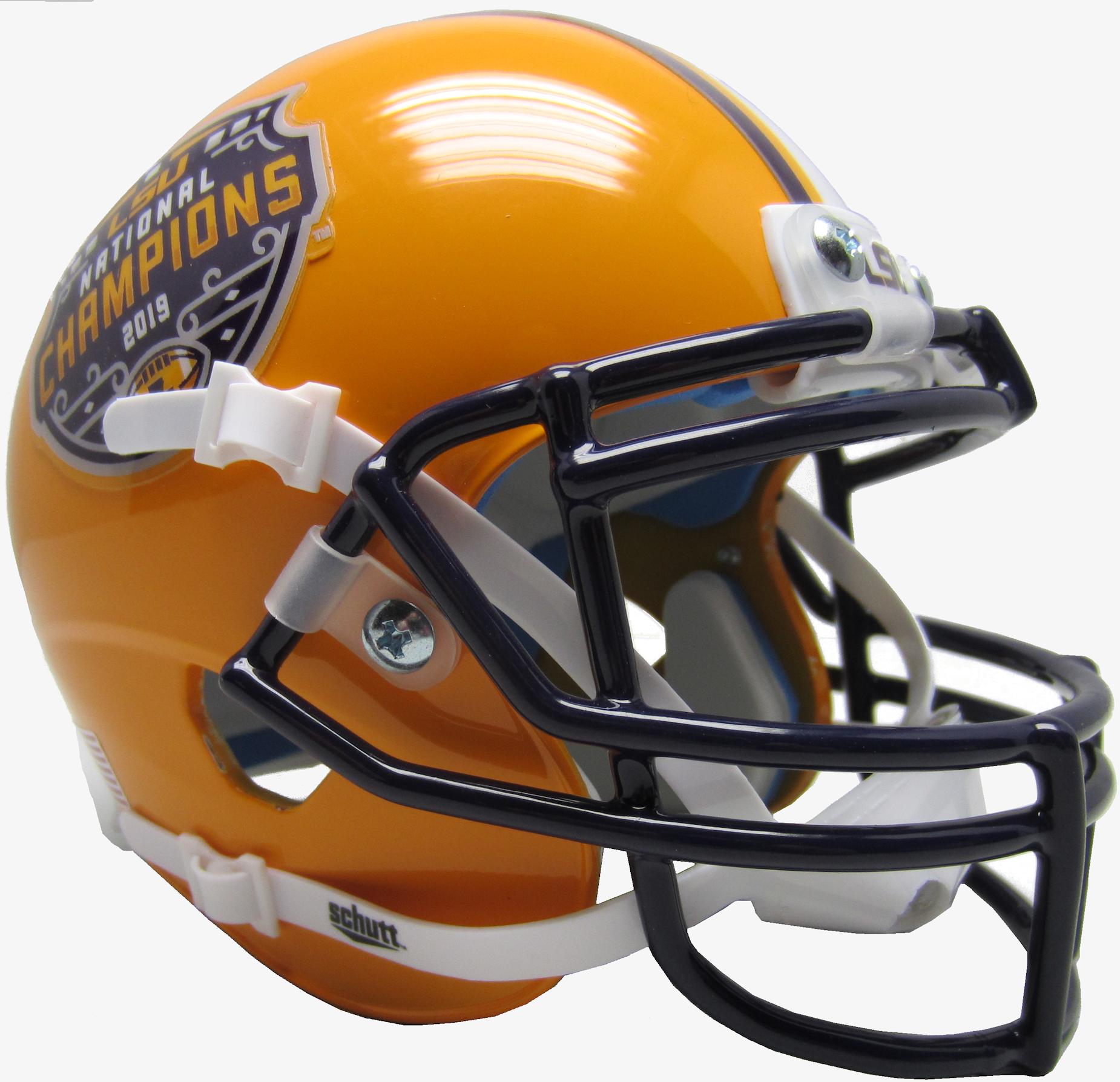 LSU Tigers Mini XP Authentic Helmet Schutt <B>2019 National Champions</B>