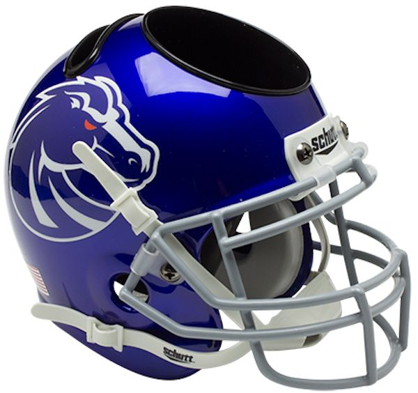 Boise State Broncos Miniature Football Helmet Desk Caddy