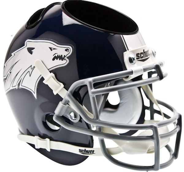 Nevada Wolfpack Miniature Football Helmet Desk Caddy