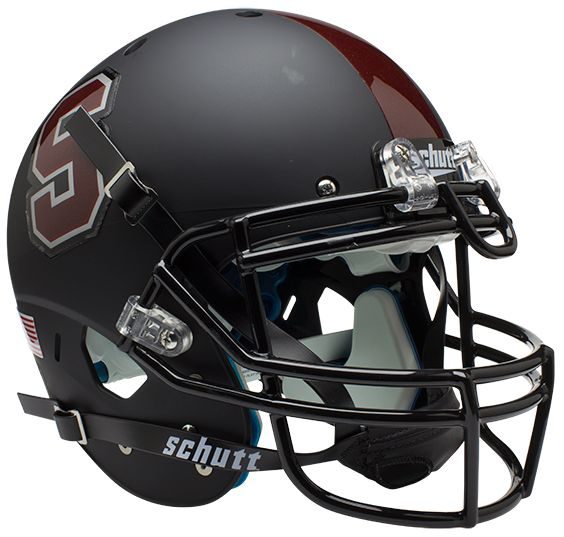 Stanford Cardinal Authentic College XP Football Helmet Schutt <B>Matte Black</B>