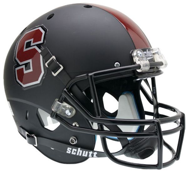 Stanford Cardinal Full XP Replica Football Helmet Schutt <B>Matte Black</B>