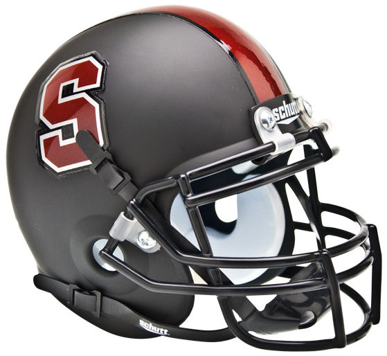 Stanford Cardinal Mini XP Authentic Helmet Schutt <B>Matte Black</B>