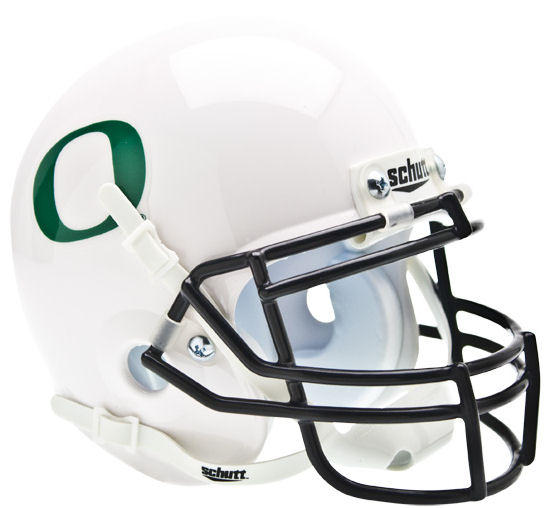 Oregon Ducks Mini XP Authentic Helmet Schutt <B>White</B>