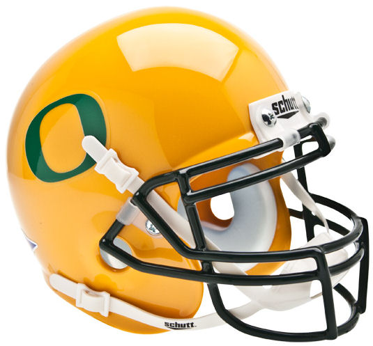 Oregon Ducks Mini XP Authentic Helmet Schutt <B>Gold</B>