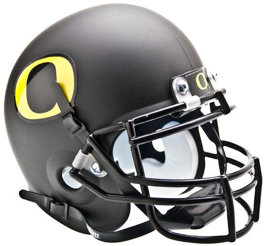 Oregon Ducks Mini XP Authentic Helmet Schutt <B>Matte Black</B>