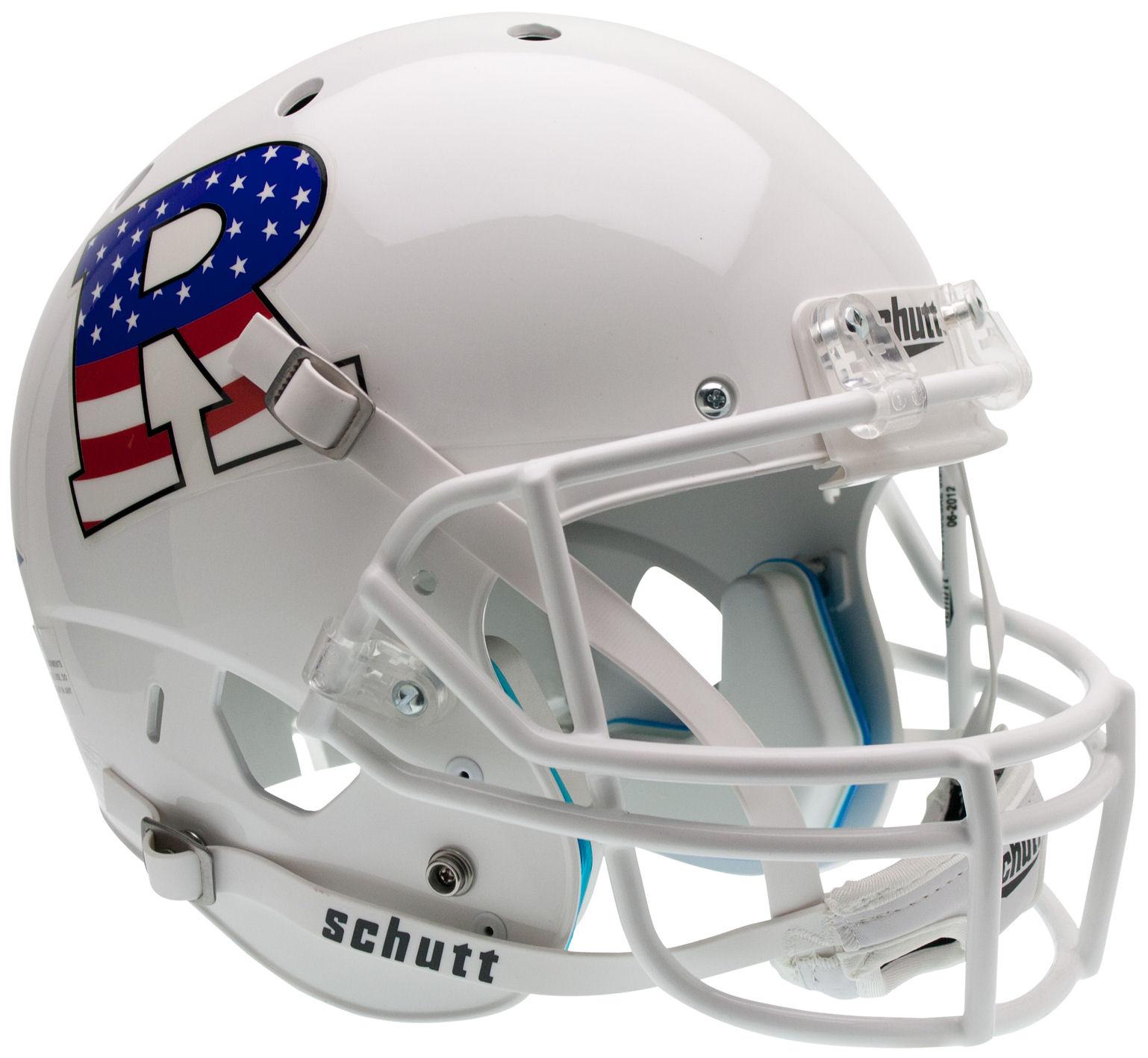 Rutgers Scarlet Knights Full XP Replica Football Helmet Schutt <B>White Flag R</B>