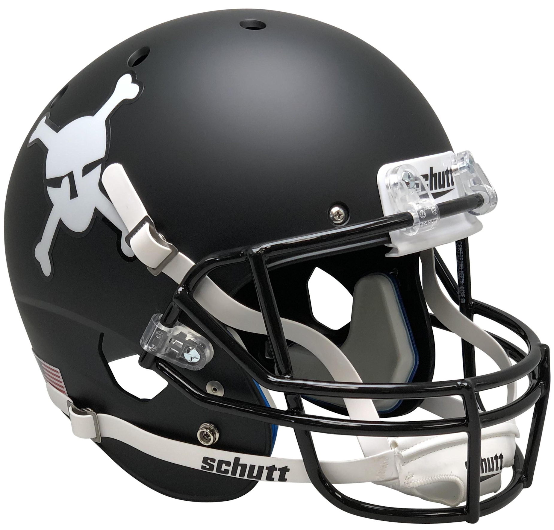 Army Black Knights Full XP Replica Football Helmet Schutt <B>Matte Black</B>