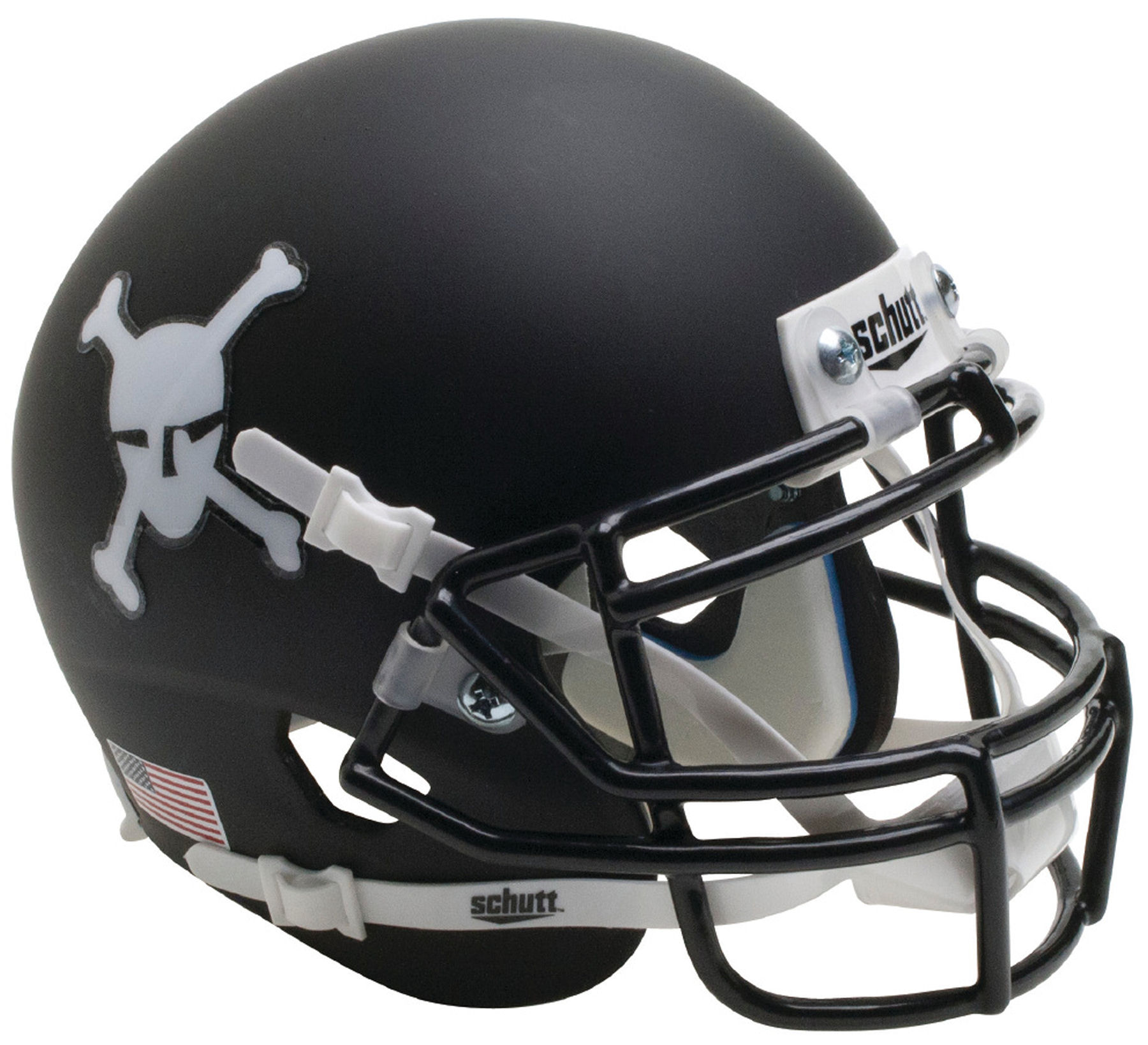 Army Black Knights Mini XP Authentic Helmet Schutt <B>Matte Black</B>