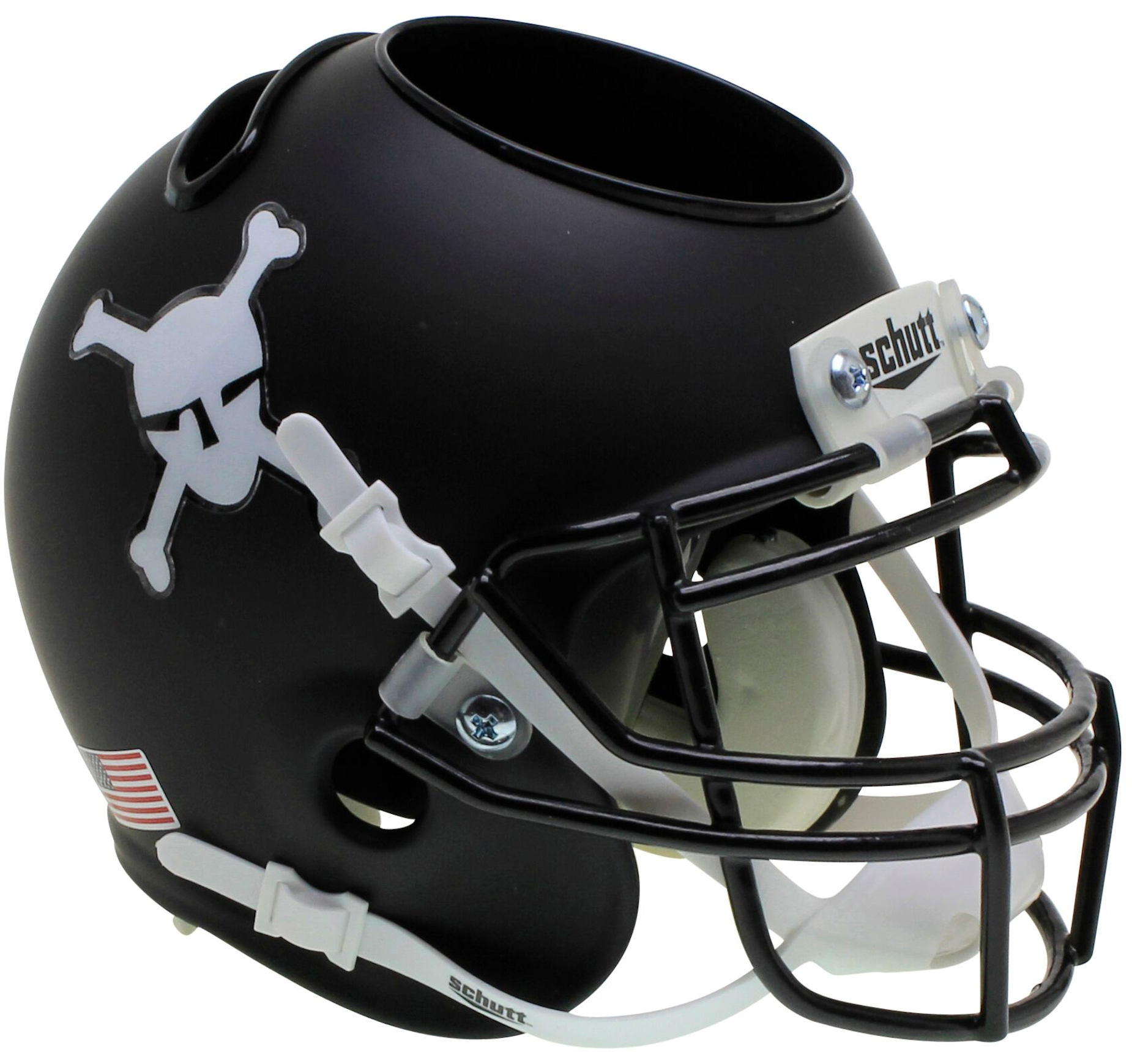 Army Black Knights Mini Football Helmet Desk Caddy <B>Matte Black</B>