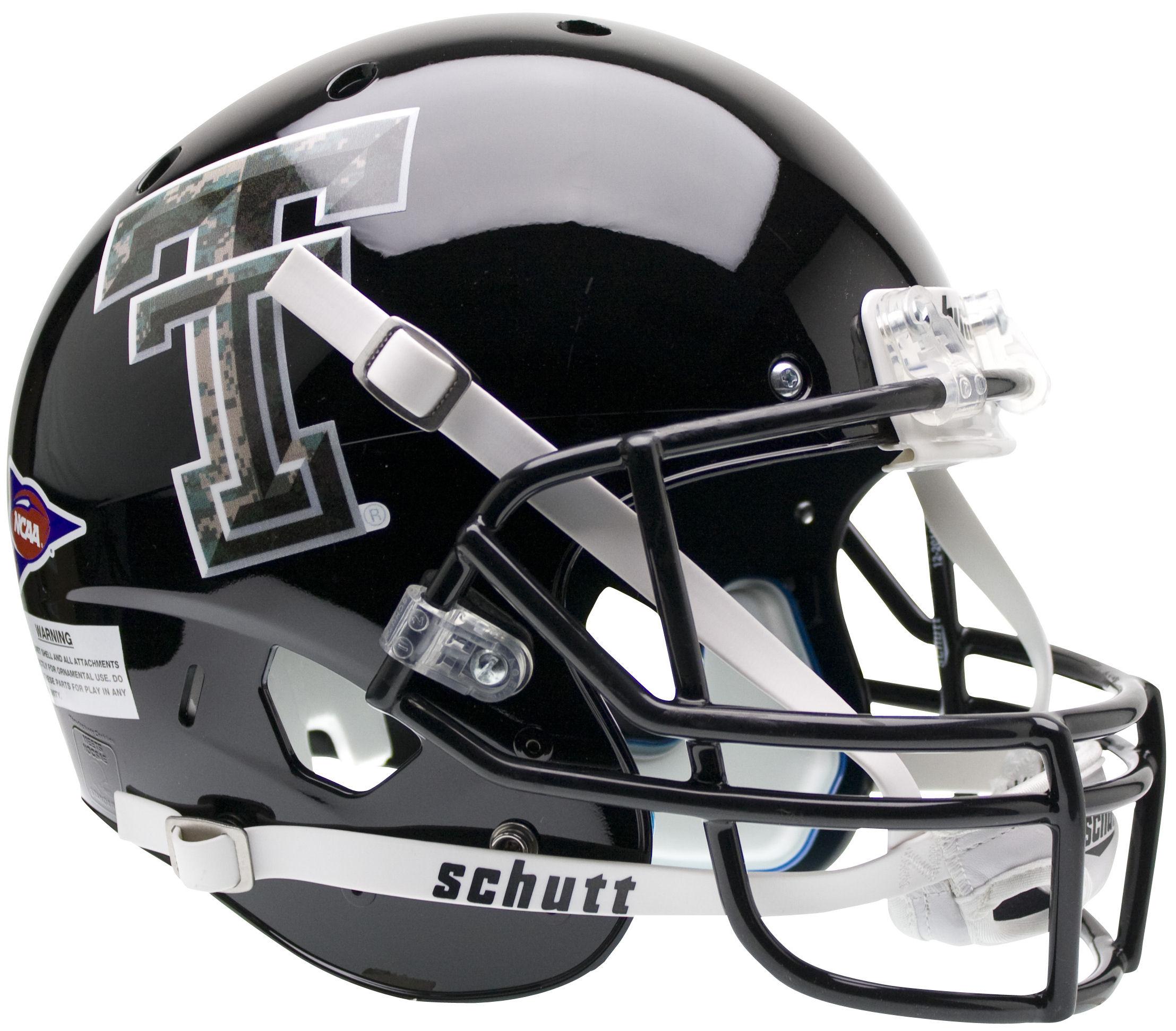 Texas Tech Red Raiders Full XP Replica Football Helmet Schutt <B>Camo Logo</B>