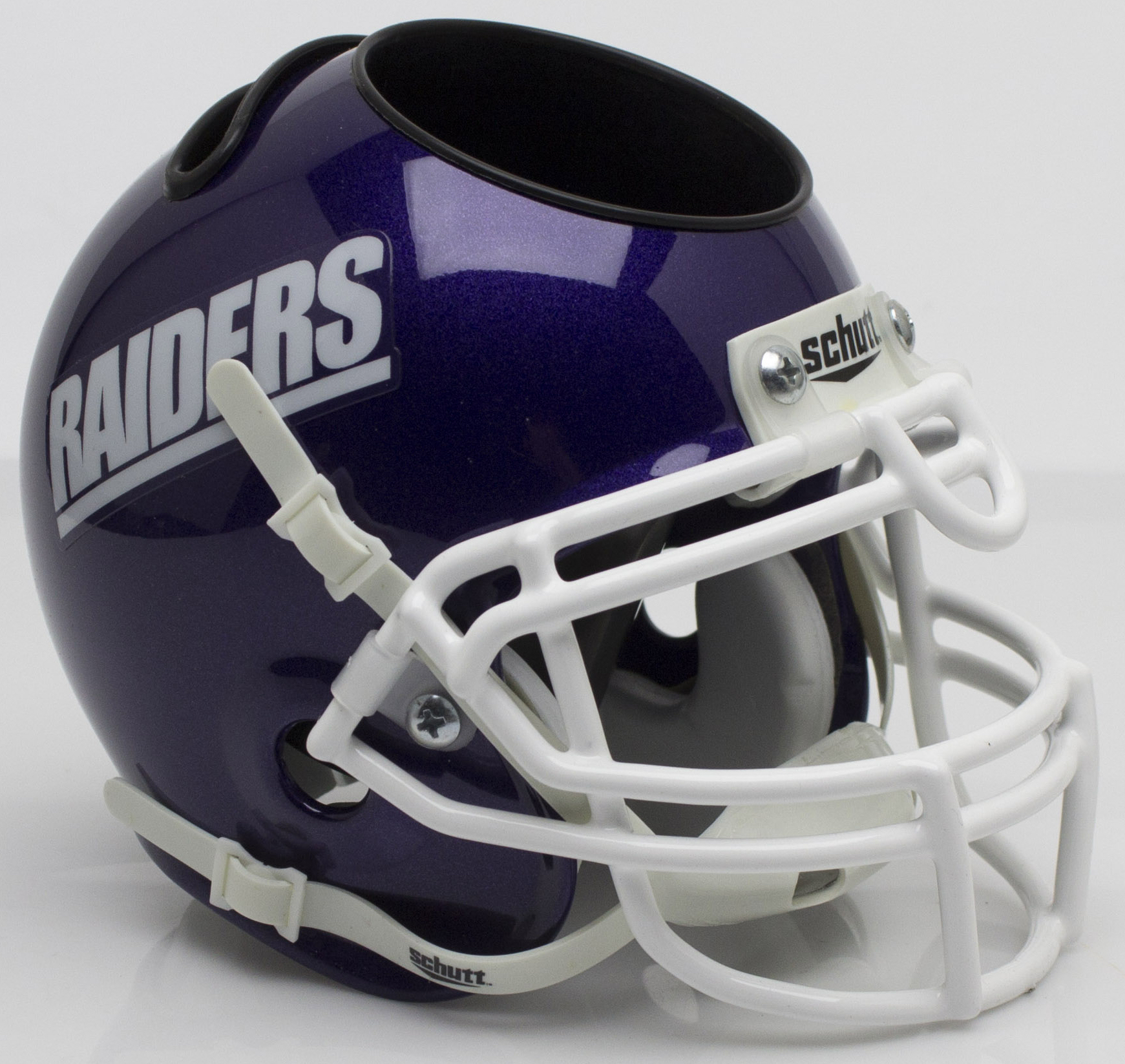 Mount Union Purple Raiders Miniature Football Helmet Desk Caddy