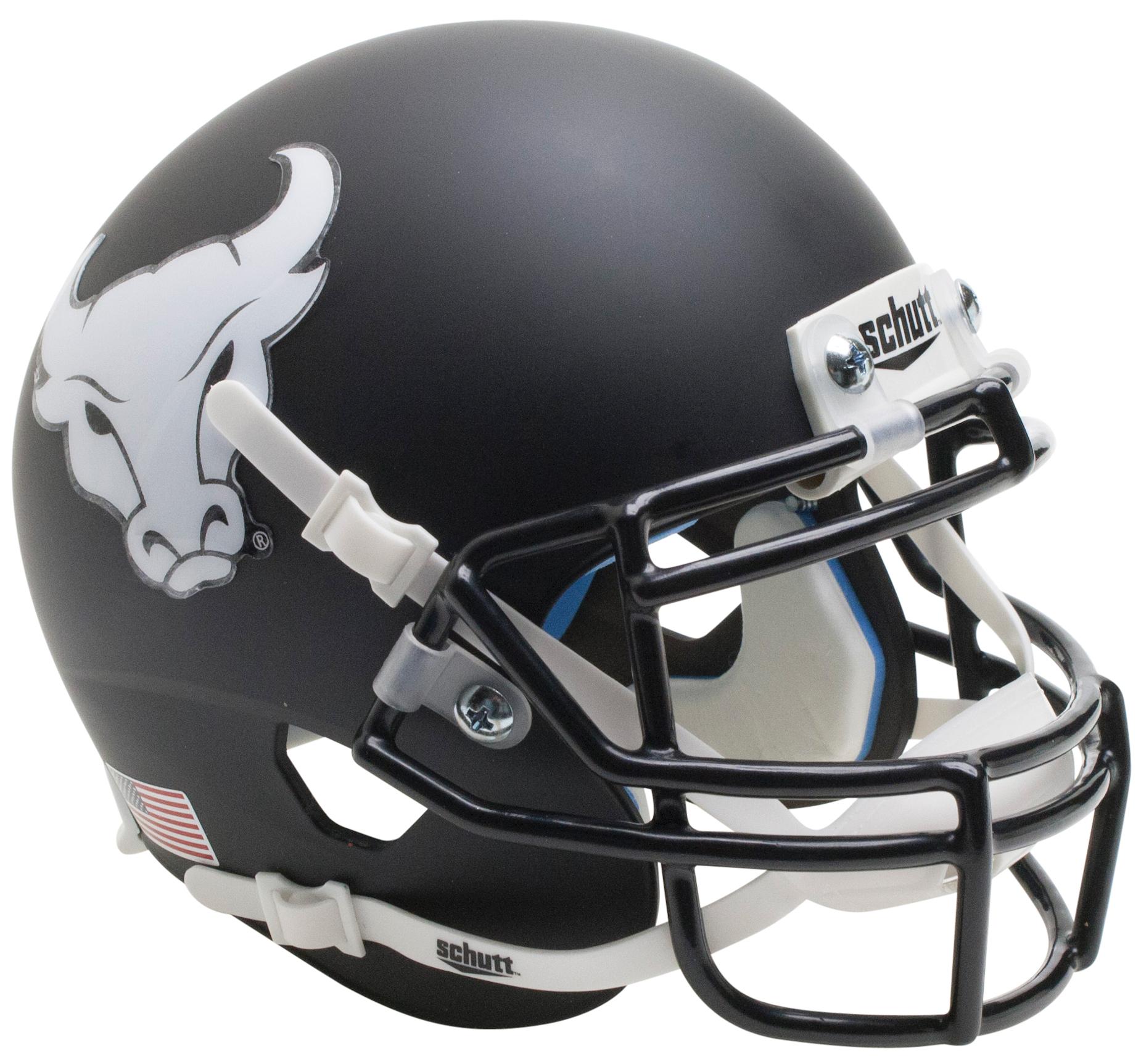 Buffalo Bulls Full XP Replica Football Helmet Schutt <B>Matte Black</B>