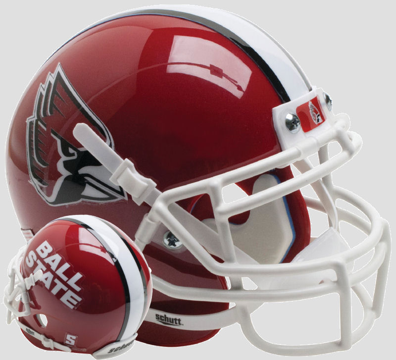 Ball State Cardinals Mini XP Authentic Helmet Schutt <B>Red</B>