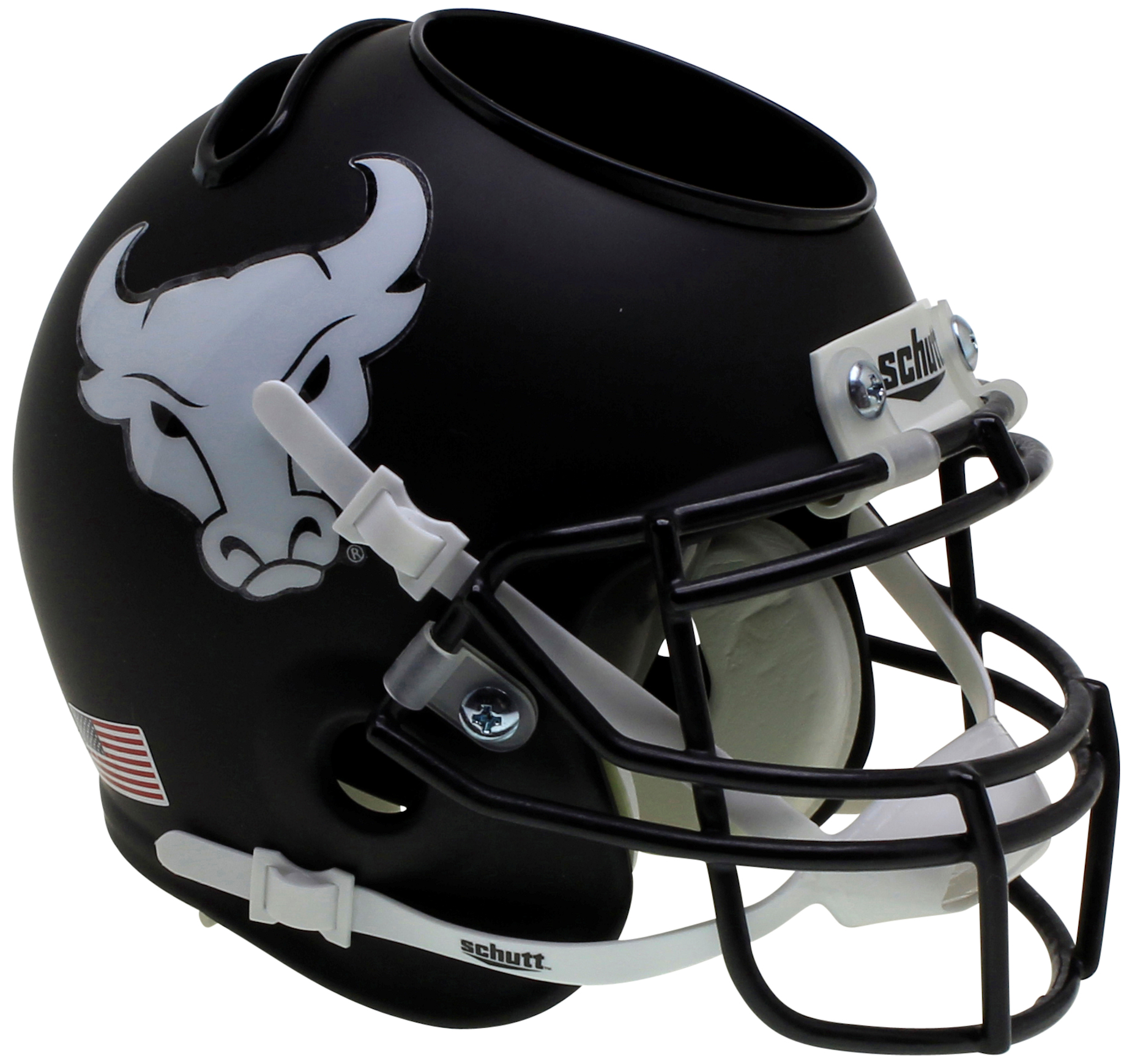 Buffalo Bulls Mini Football Helmet Desk Caddy <B>Matte Black</B>