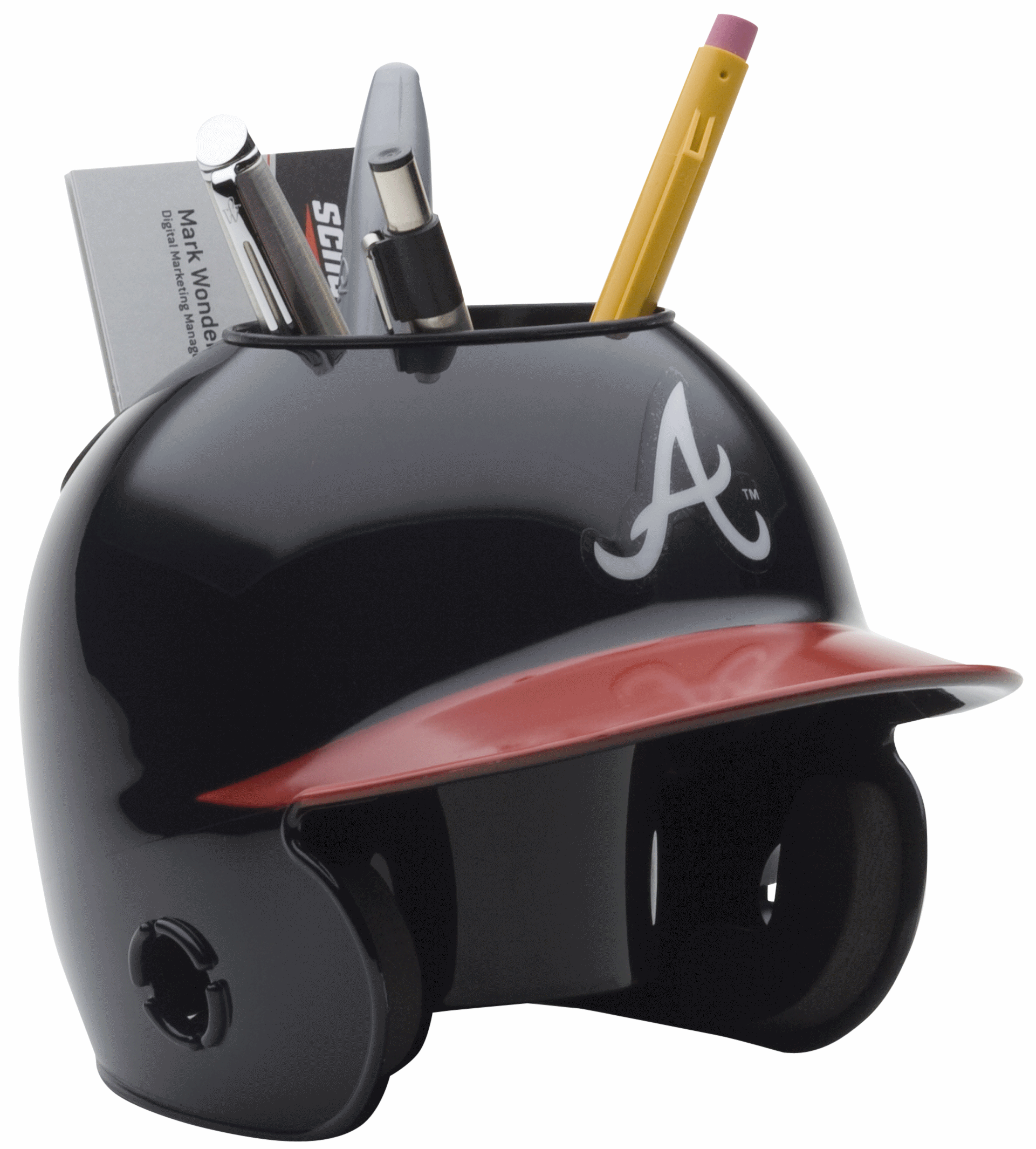 Atlanta Braves Miniature Batters Helmet Desk Caddy