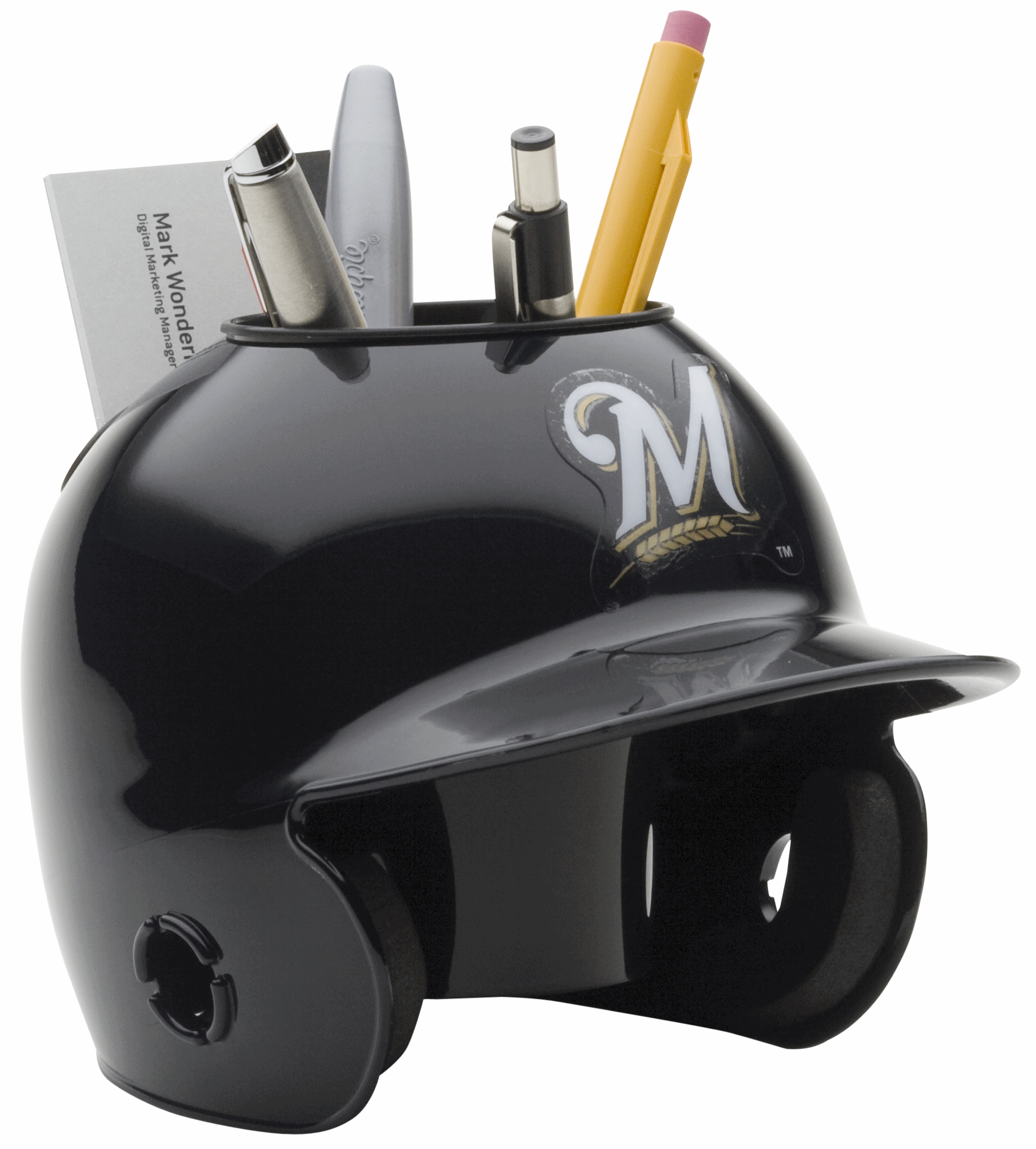 Milwaukee Brewers Miniature Batters Helmet Desk Caddy