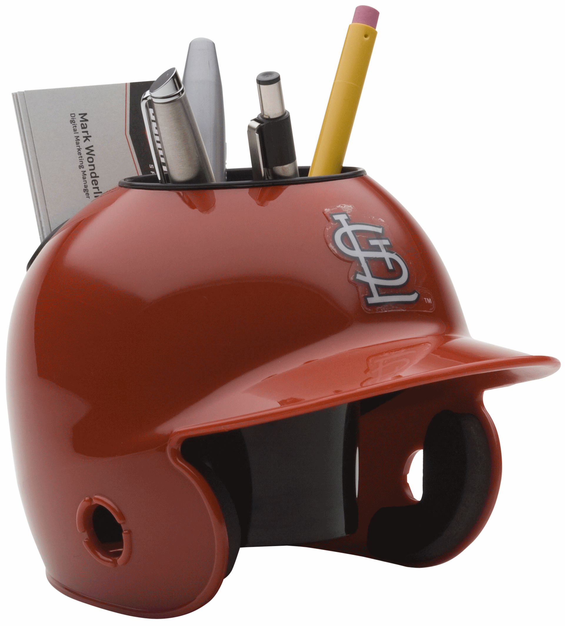 St Louis Cardinals Miniature Batters Helmet Desk Caddy
