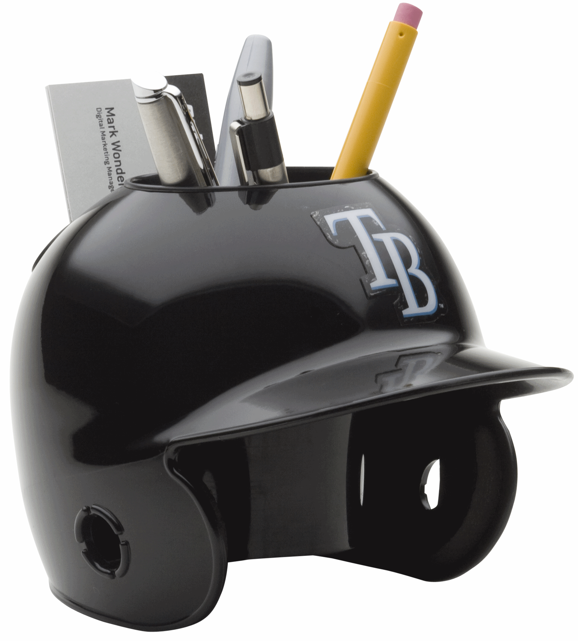 Tampa Bay Rays Miniature Batters Helmet Desk Caddy