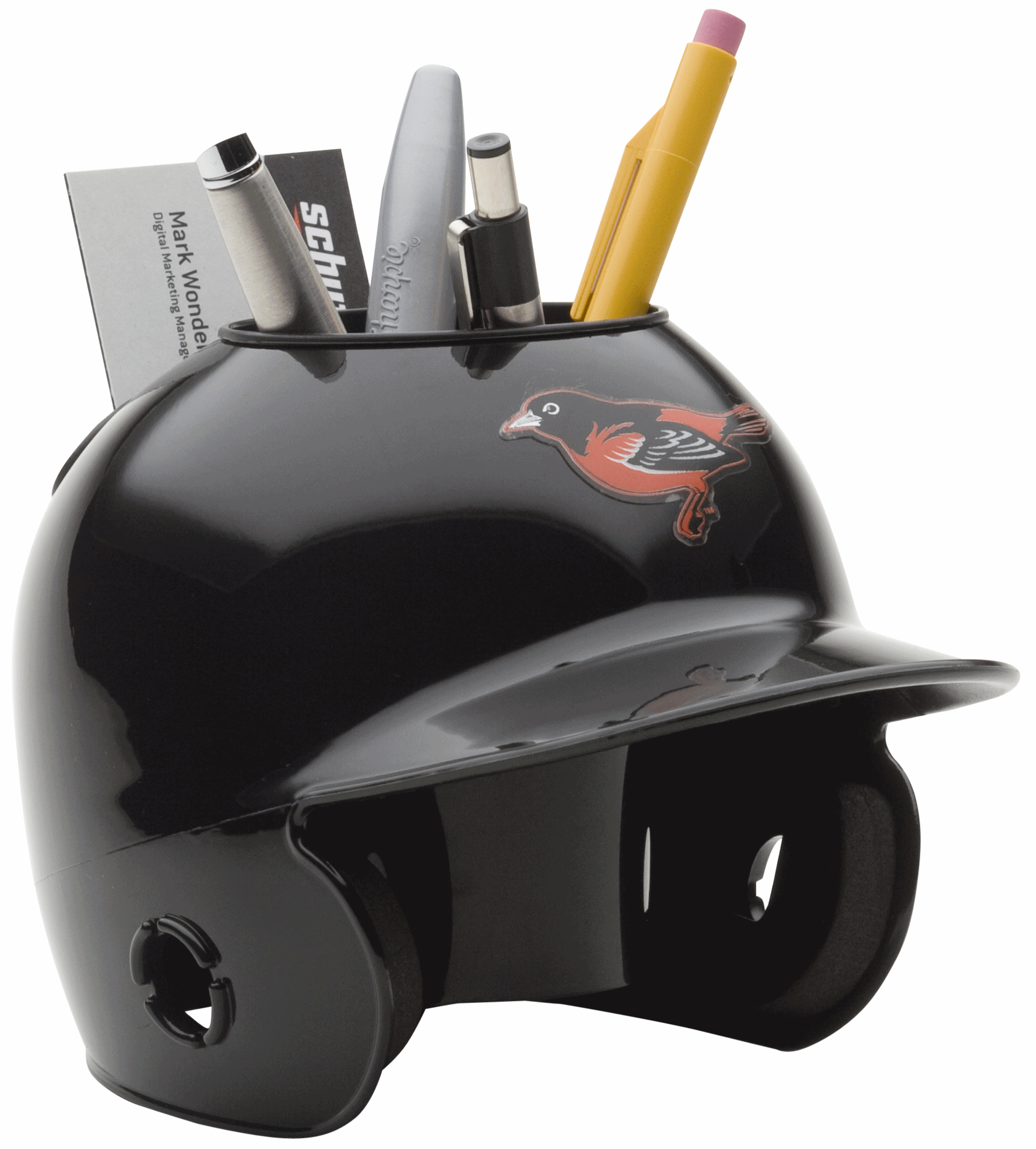 Baltimore Orioles Miniature Batters Helmet Desk Caddy