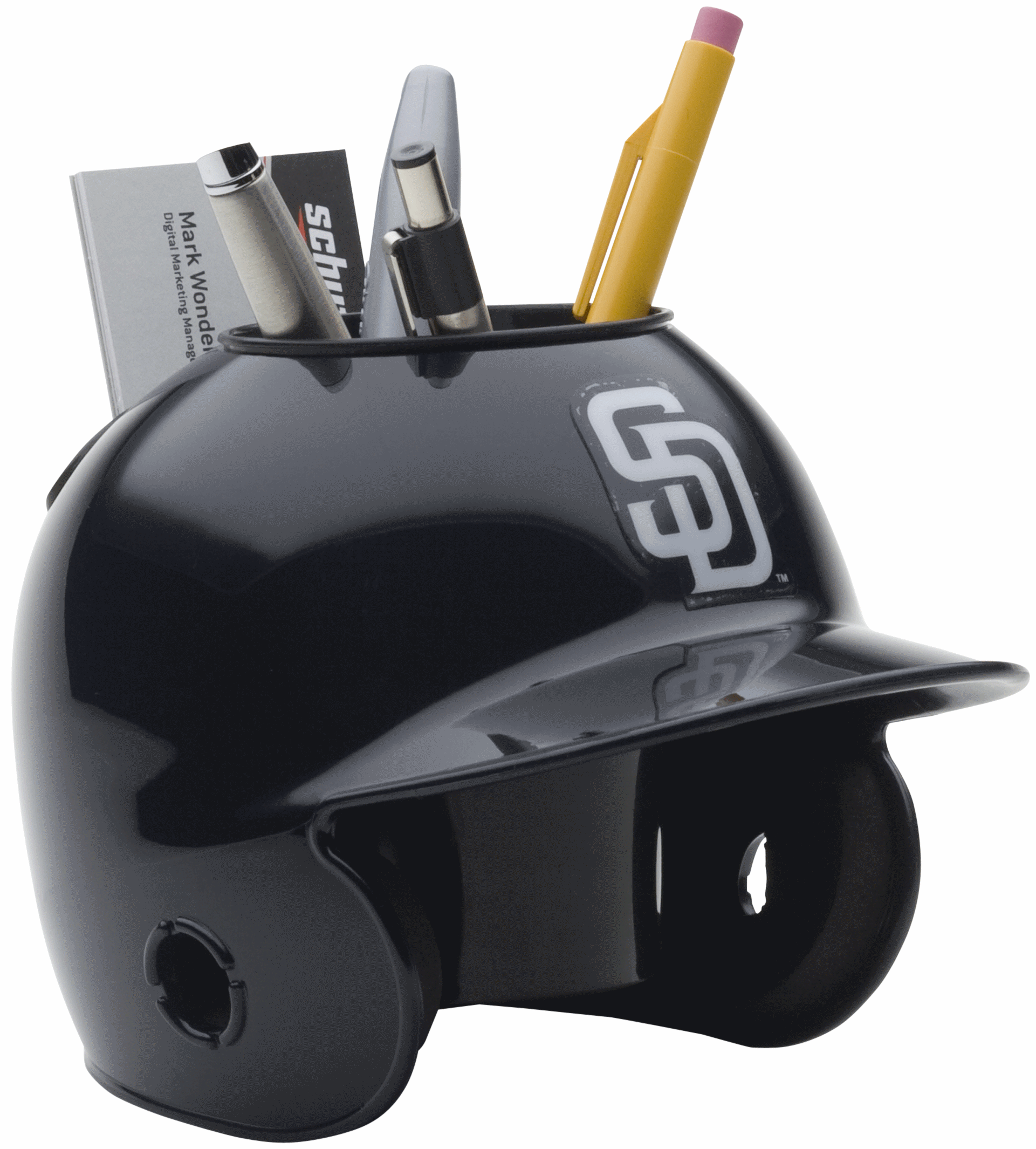 San Diego Padres Miniature Batters Helmet Desk Caddy