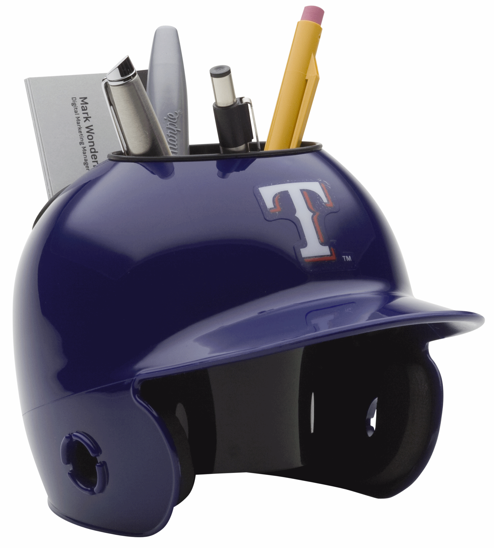 Texas Rangers Miniature Batters Helmet Desk Caddy