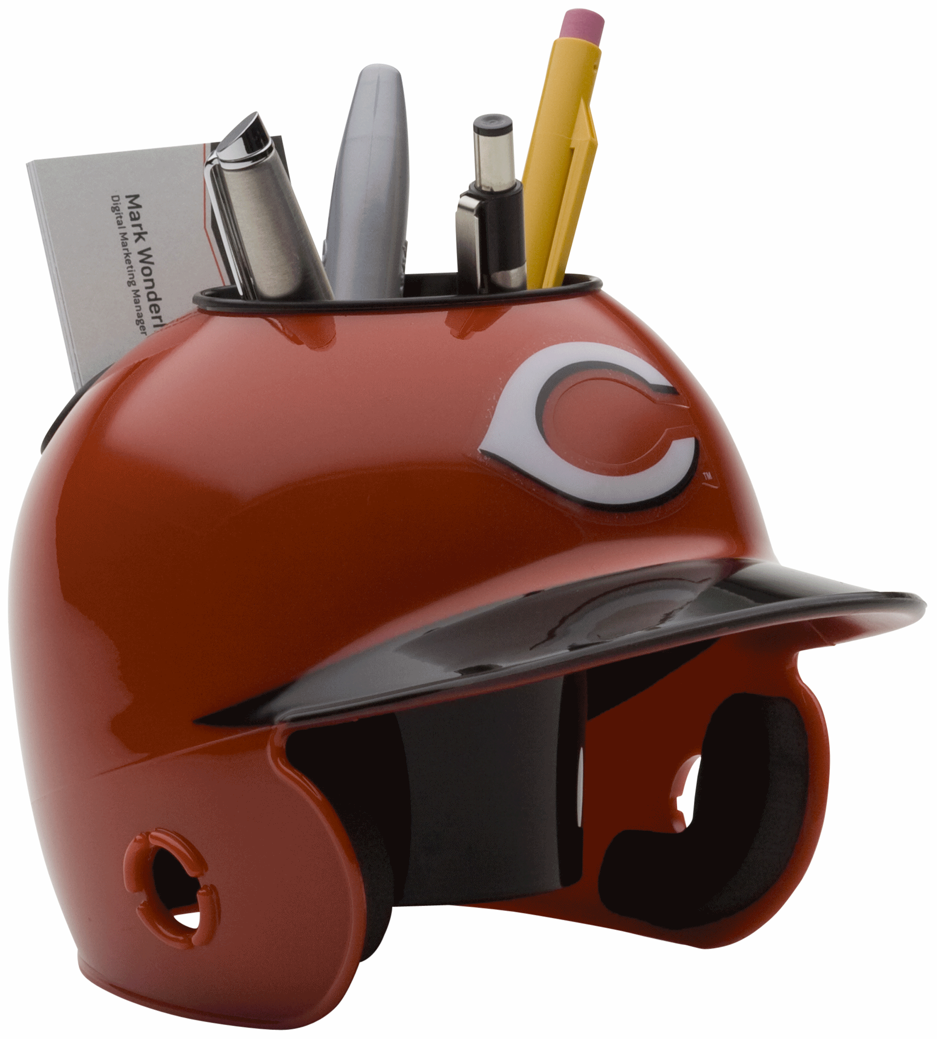 Cincinnati Reds Miniature Batters Helmet Desk Caddy