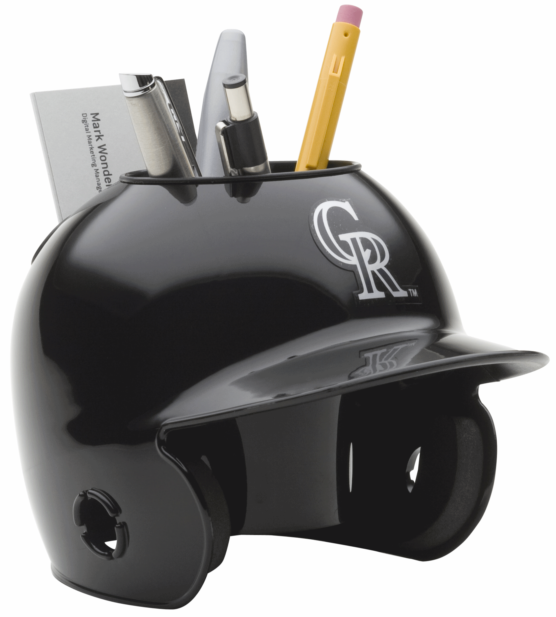 Colorado Rockies Miniature Batters Helmet Desk Caddy