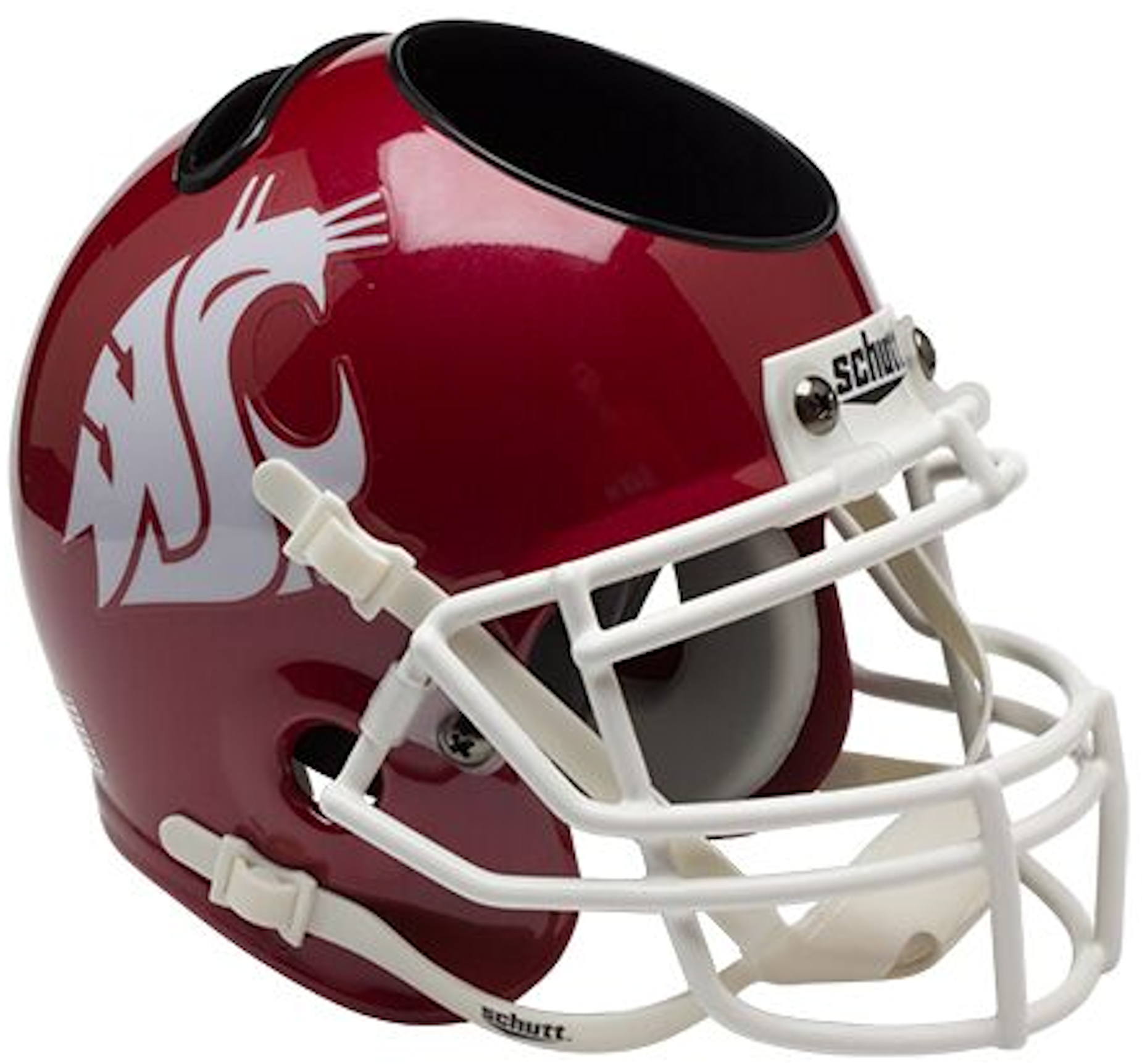 Washington State Cougars Miniature Football Helmet Desk Caddy <B>Scarlet</B>