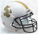 Navy Midshipmen Full XP Replica Football Helmet Schutt <B>White</B>