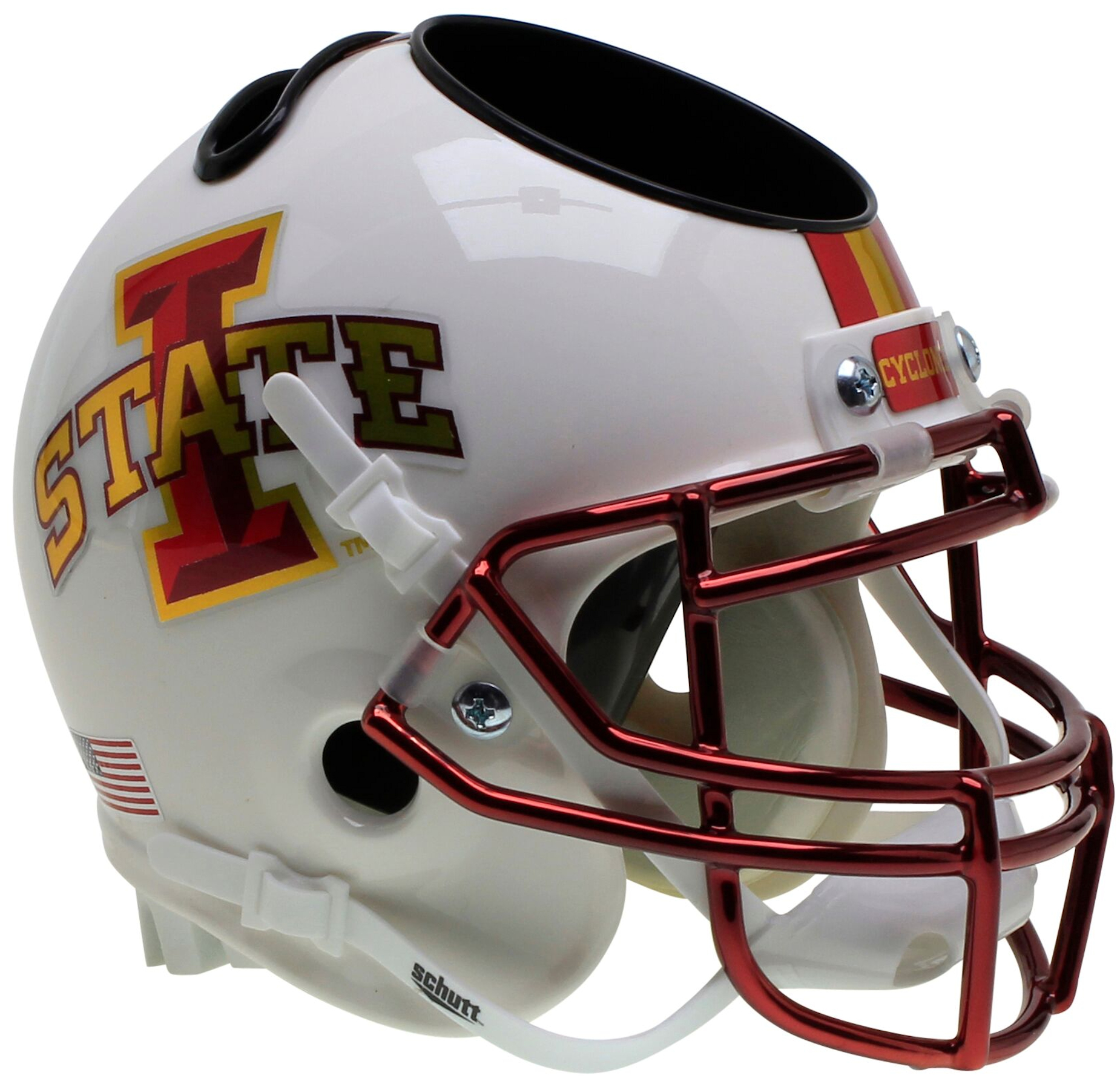 Iowa State Cyclones Miniature Football Helmet Desk Caddy <B>White</B>