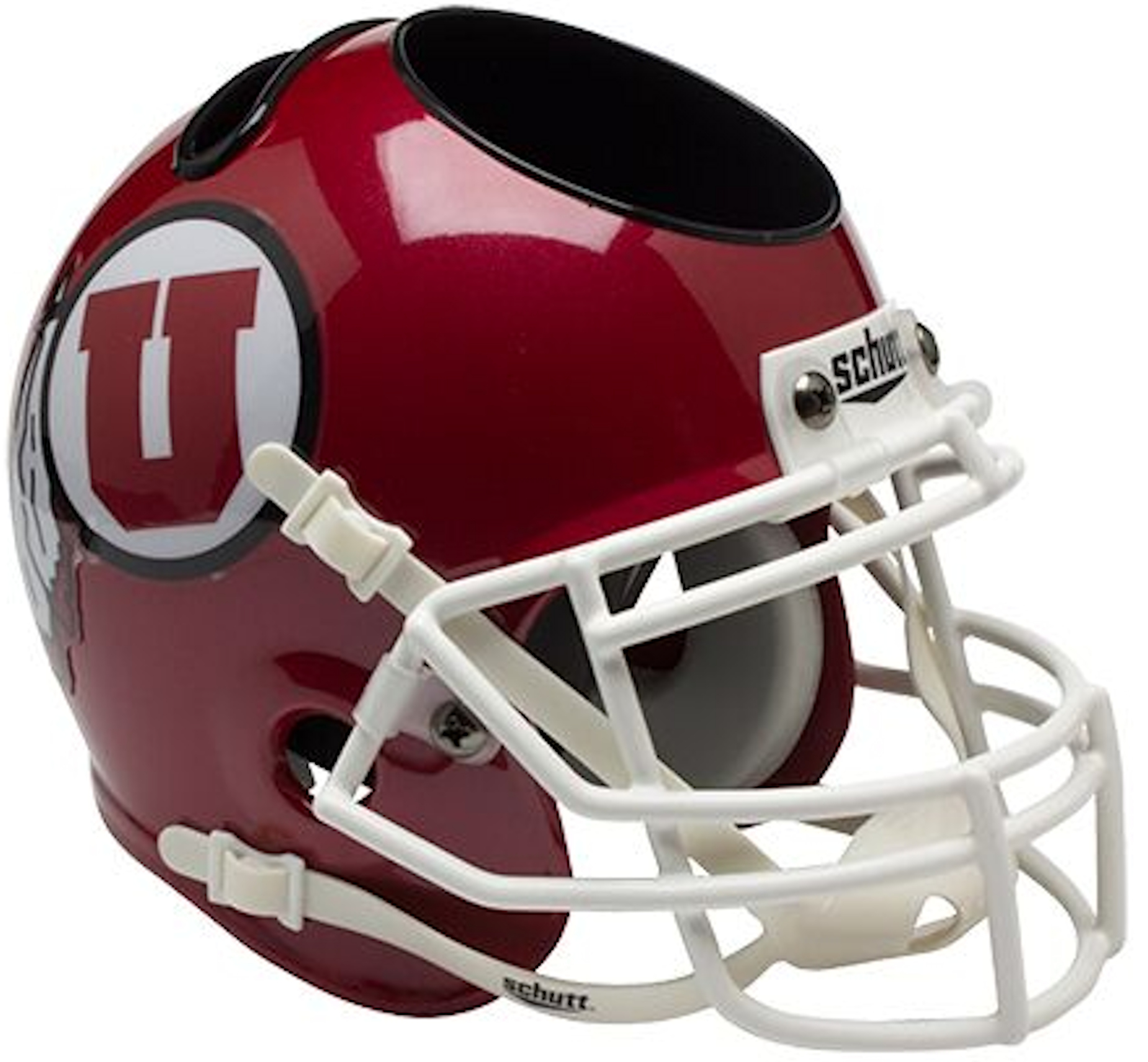 Utah Utes Miniature Football Helmet Desk Caddy