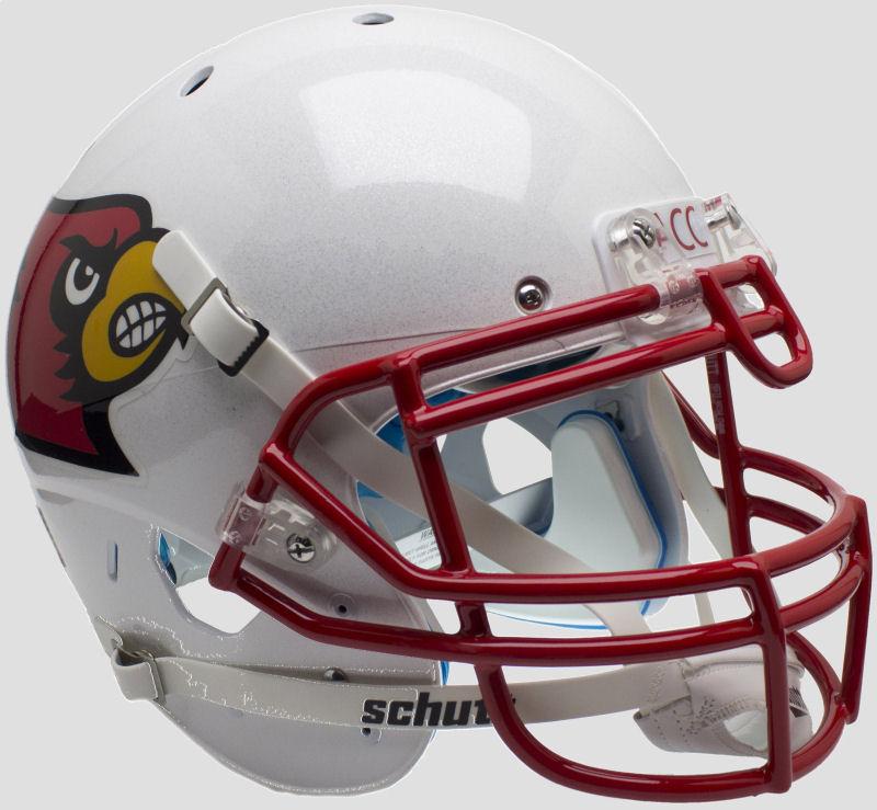 Louisville Cardinals Authentic College XP Football Helmet Schutt <B>Red Mask</B>