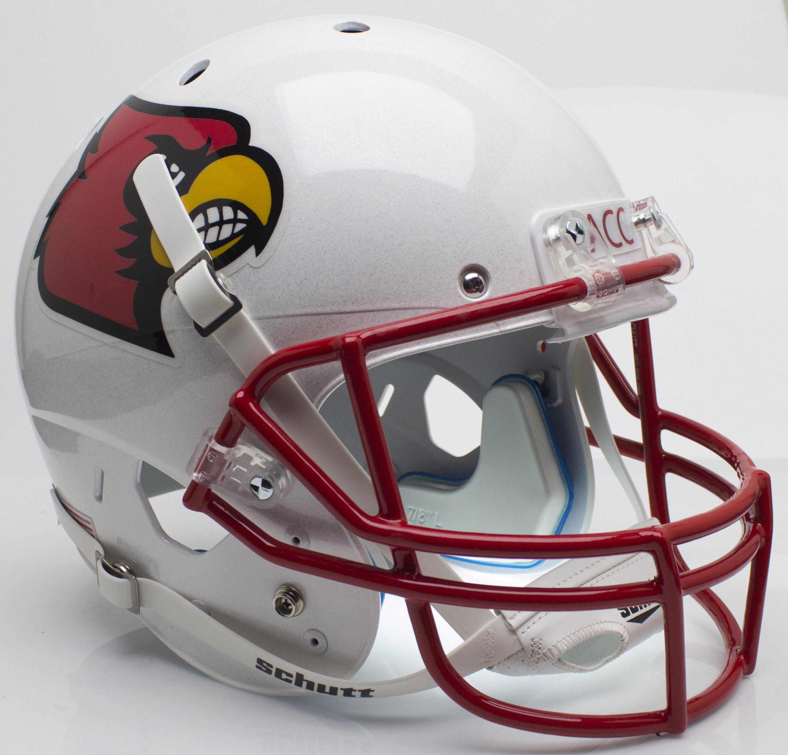 Louisville Cardinals Full XP Replica Football Helmet Schutt <B>Red Mask</B>
