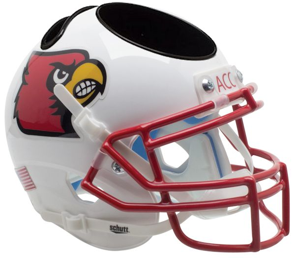 Louisville Cardinals Miniature Football Helmet Desk Caddy <B>Red Mask</B>