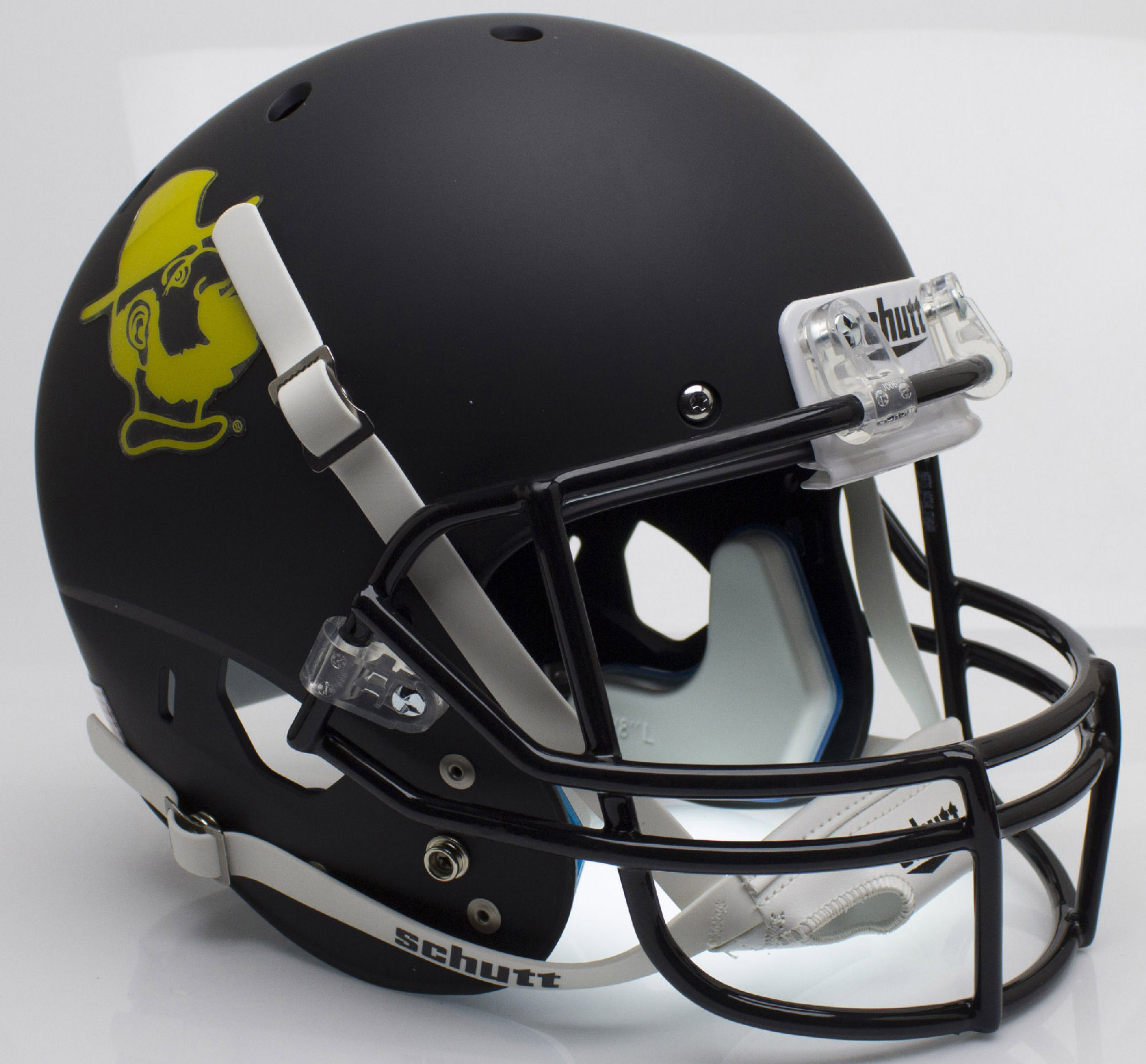 Appalachian State Mountaineers Full XP Replica Football Helmet Schutt <B>Yosef Black</B>