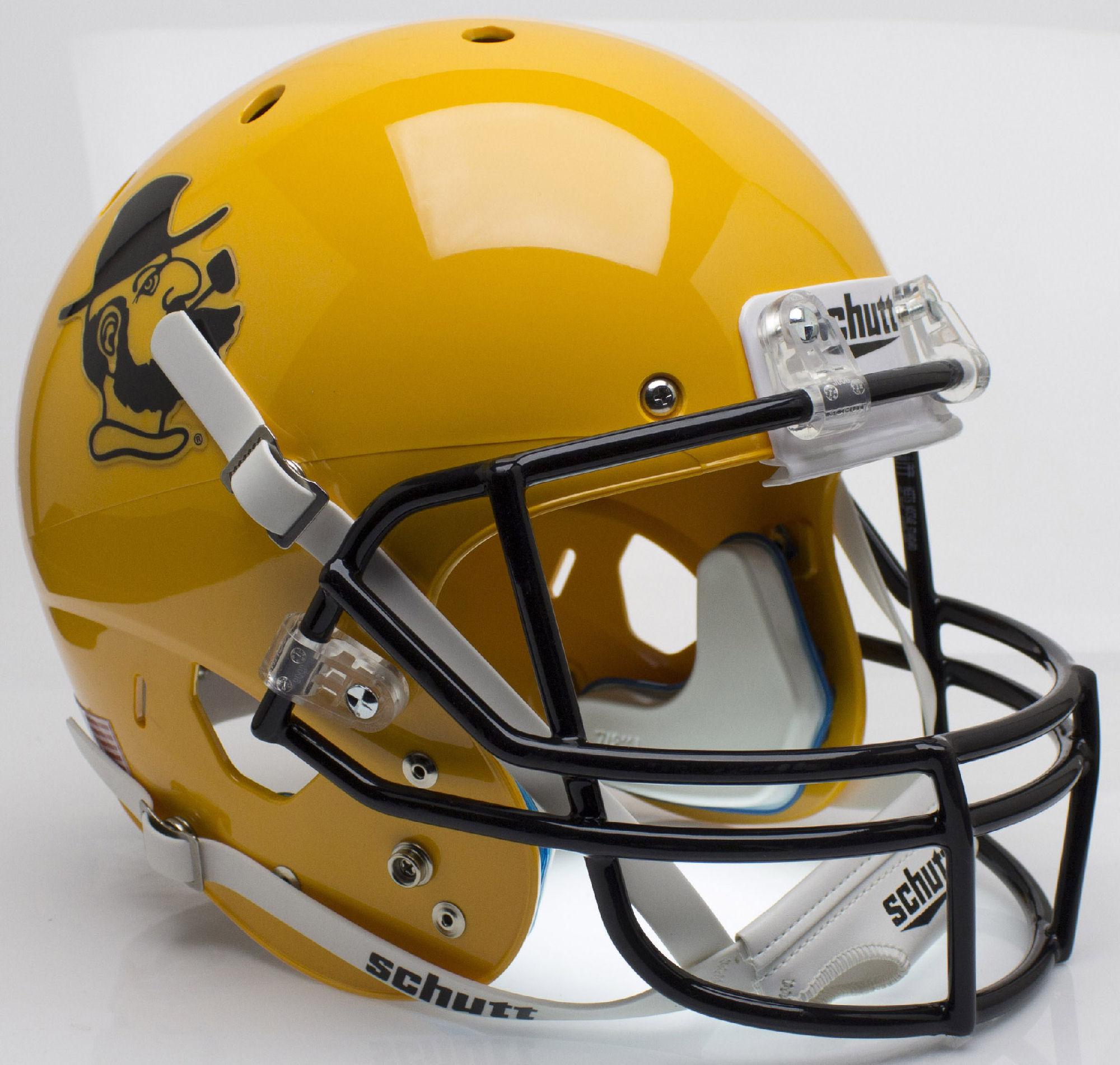 Appalachian State Mountaineers Full XP Replica Football Helmet Schutt <B>Yosef Yellow</B>