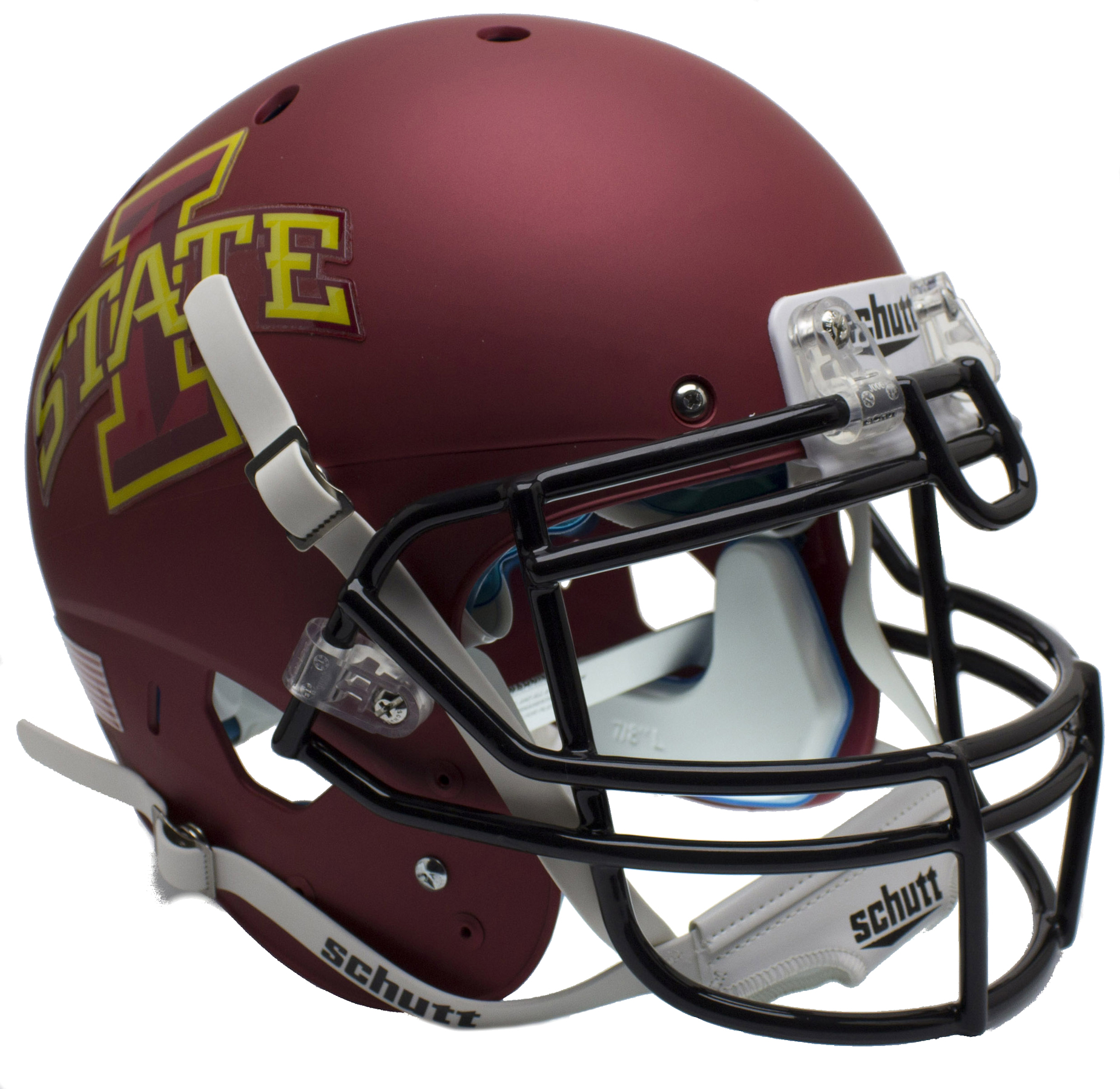 Iowa State Cyclones Authentic College XP Football Helmet Schutt <B>Matte Maroon</B>
