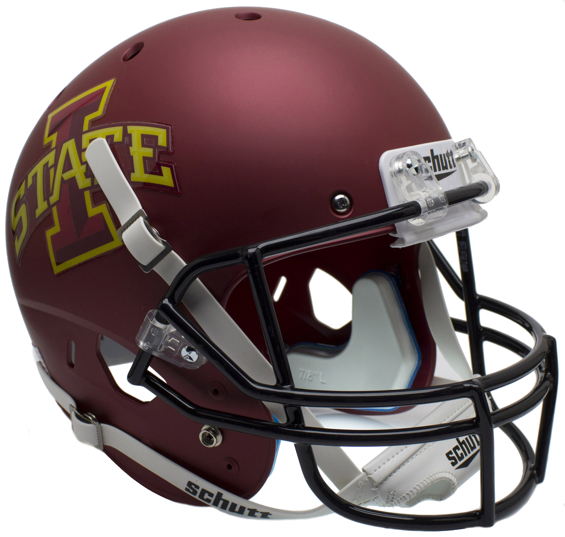 Iowa State Cyclones Full XP Replica Football Helmet Schutt <B>Matte Maroon</B>
