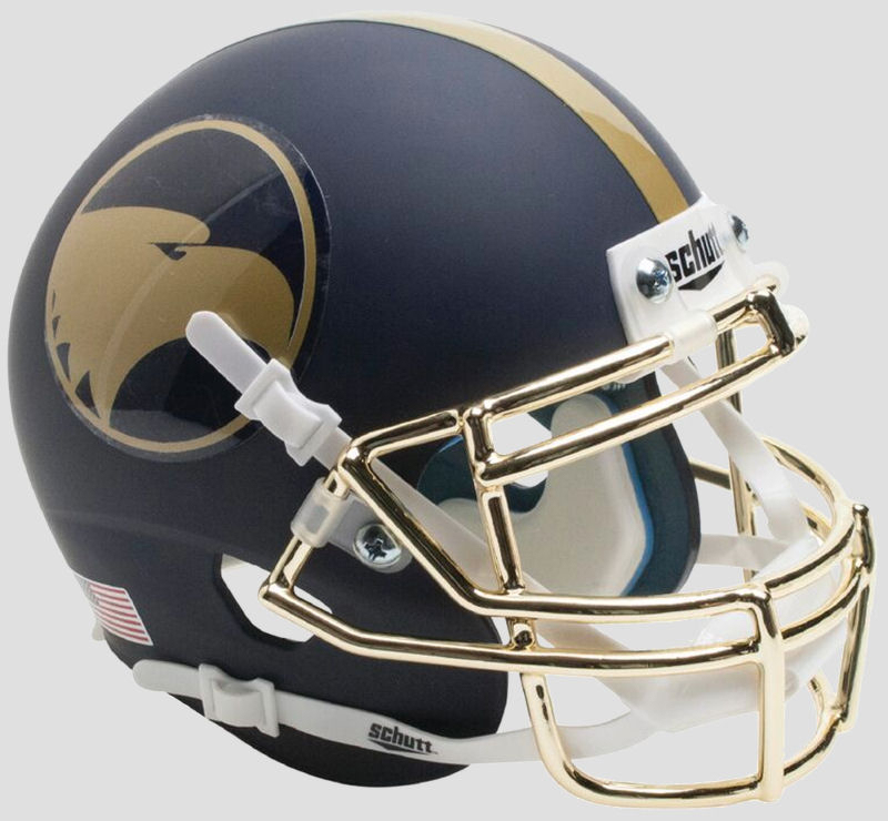 Georgia Southern Eagles Full XP Replica Football Helmet Schutt <B>Matte Blue</B>