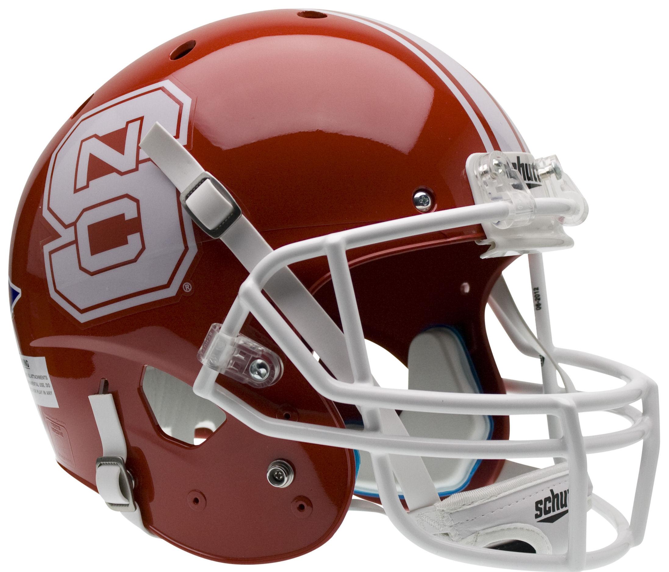 North Carolina State Wolfpack Full XP Replica Football Helmet Schutt <B>Red</B>