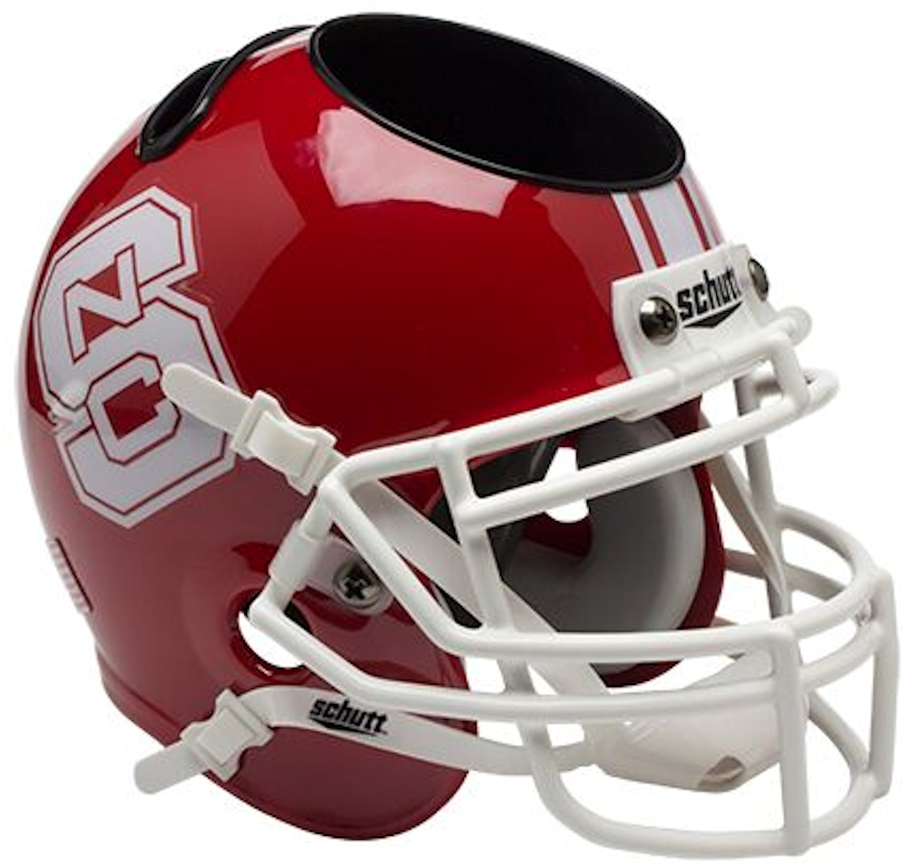 North Carolina State Wolfpack Miniature Football Helmet Desk Caddy <B>Red</B>